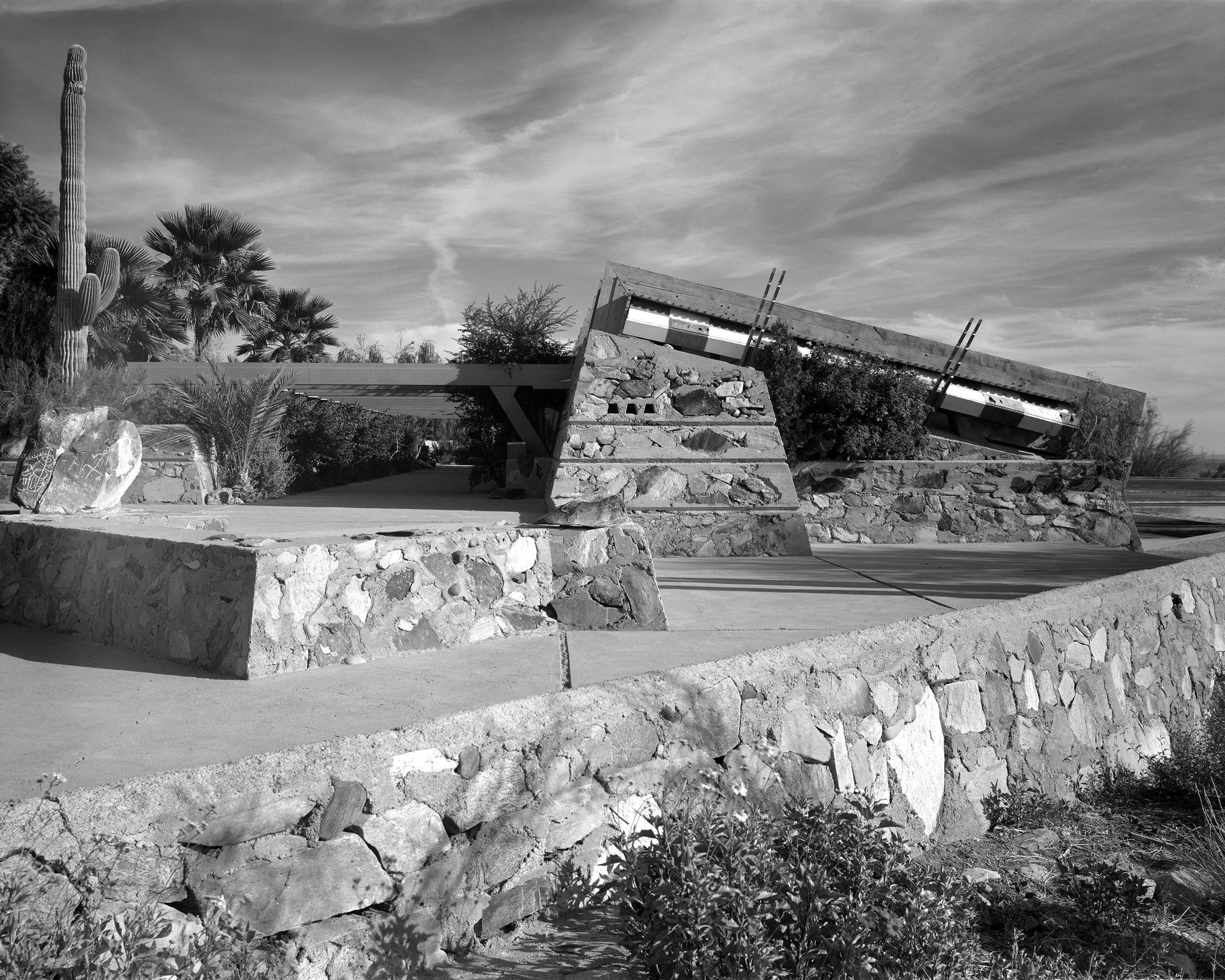 Frank Lloyd Wright's Taliesin West in Scottsdale, Ariz. Built circa 1937.