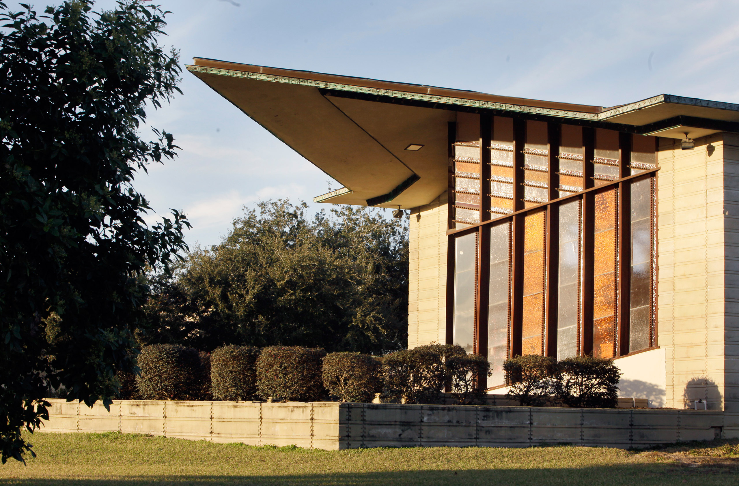 Frank Lloyd Wright's William H. Danforth Chapel at The Florida Southern College in Lakeland, Fla. Built circa 1938.