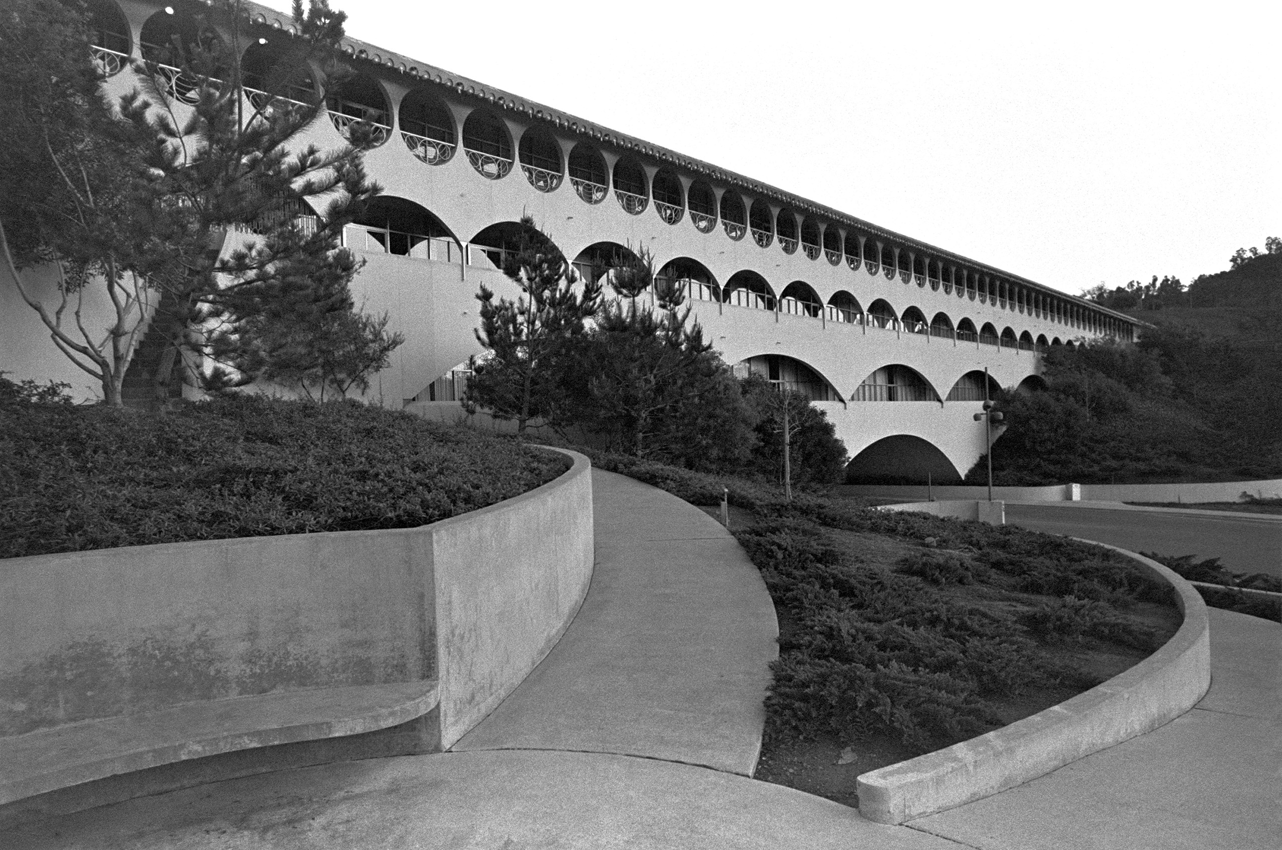 Frank Lloyd Wright's Marin County Civic Cente rin San Rafael, Calif. Built circa 1960.