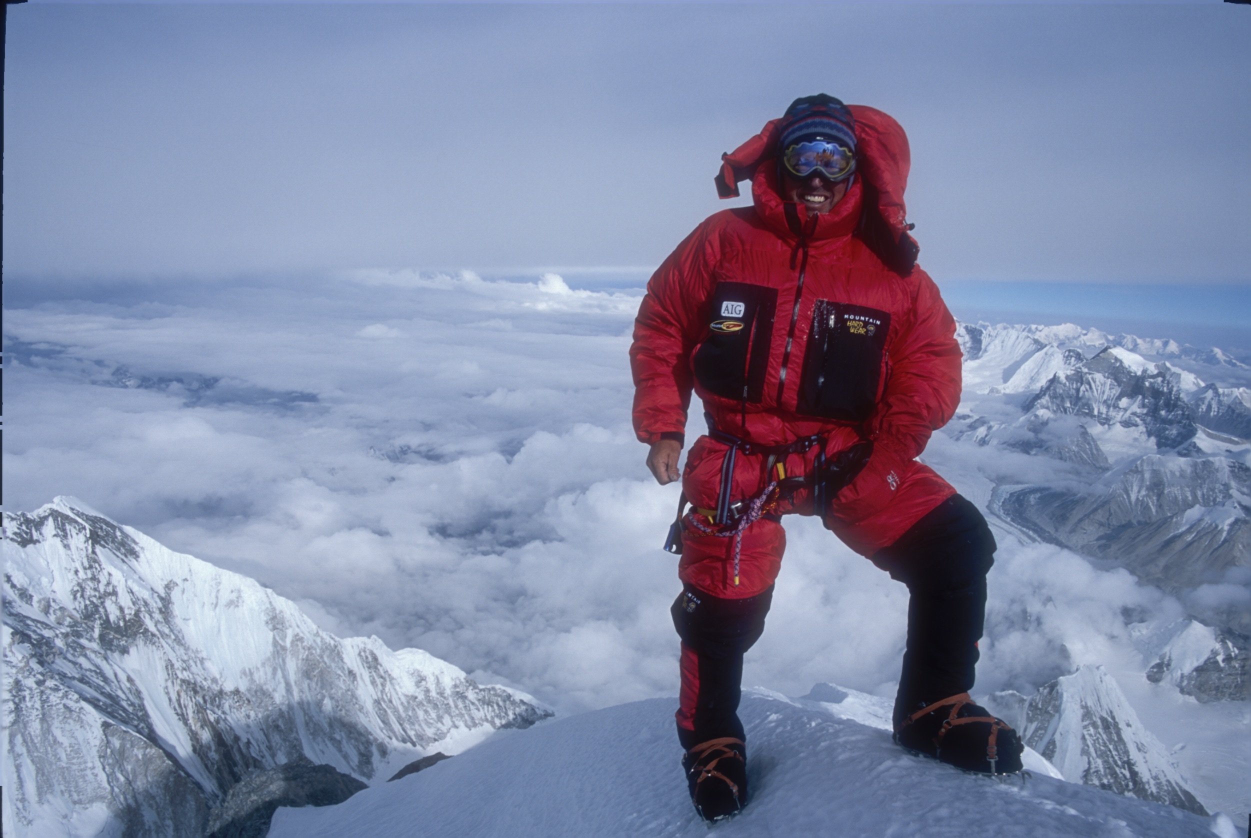 Ed Viesturs is pictured here in 2004, when he climbed Mount Everest for the sixth time.