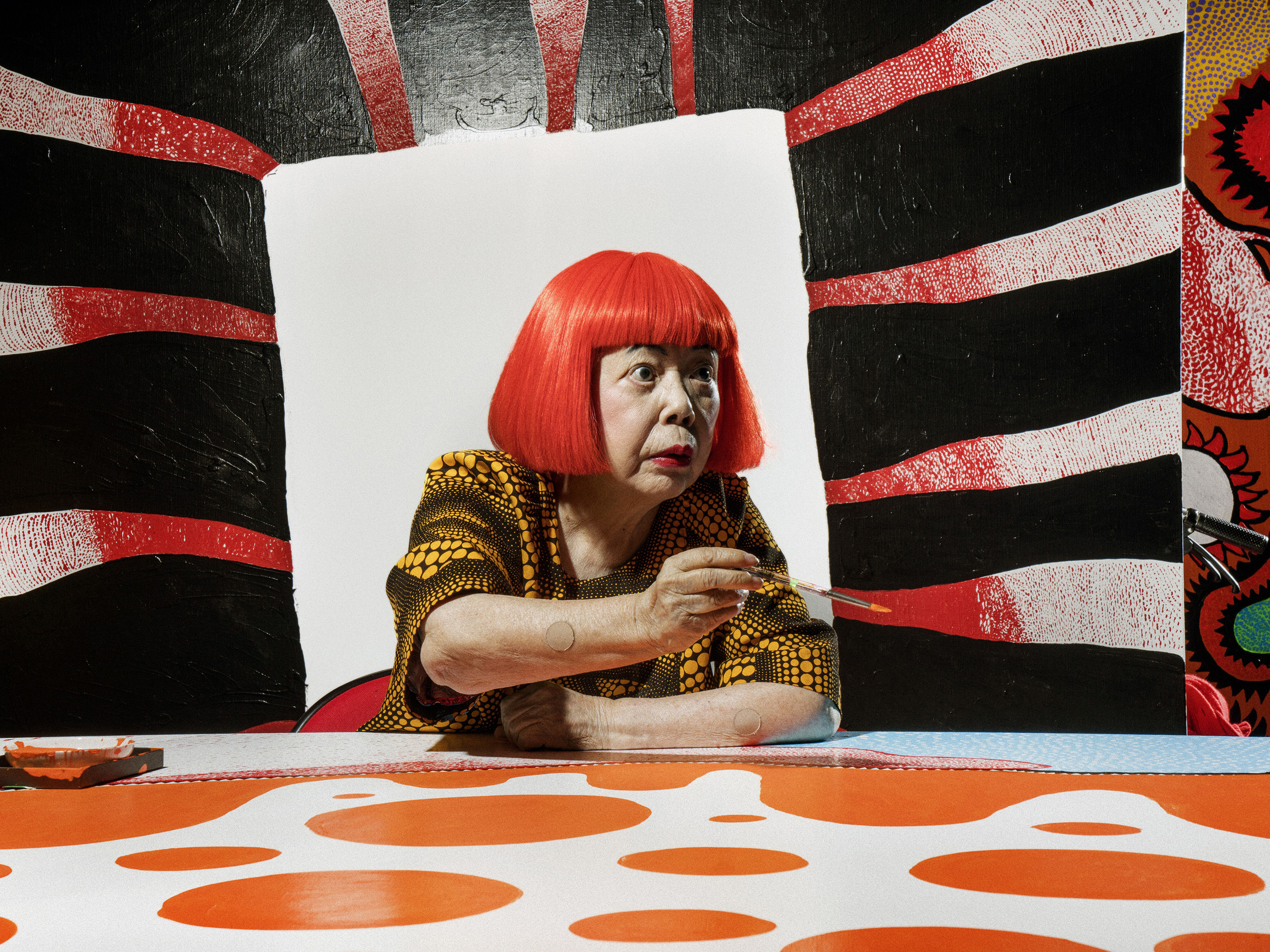 Yayoi Kusama from  The 100 Most Influential People.
