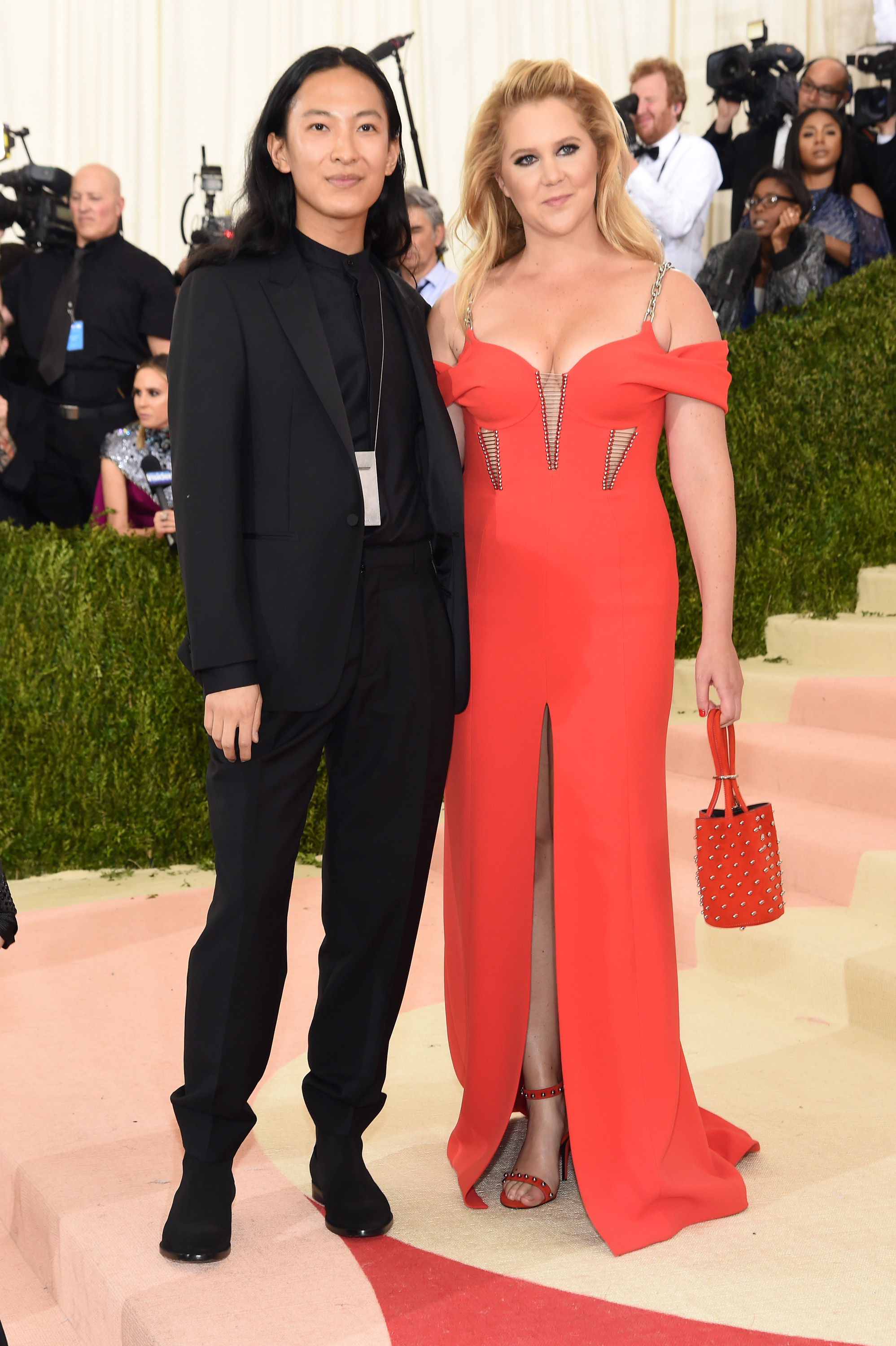 Alexander Wang and Amy Schumer attend  Manus x Machina: Fashion In An Age Of Technology  Costume Institute Gala at Metropolitan Museum of Art on May 2, 2016 in New York City.