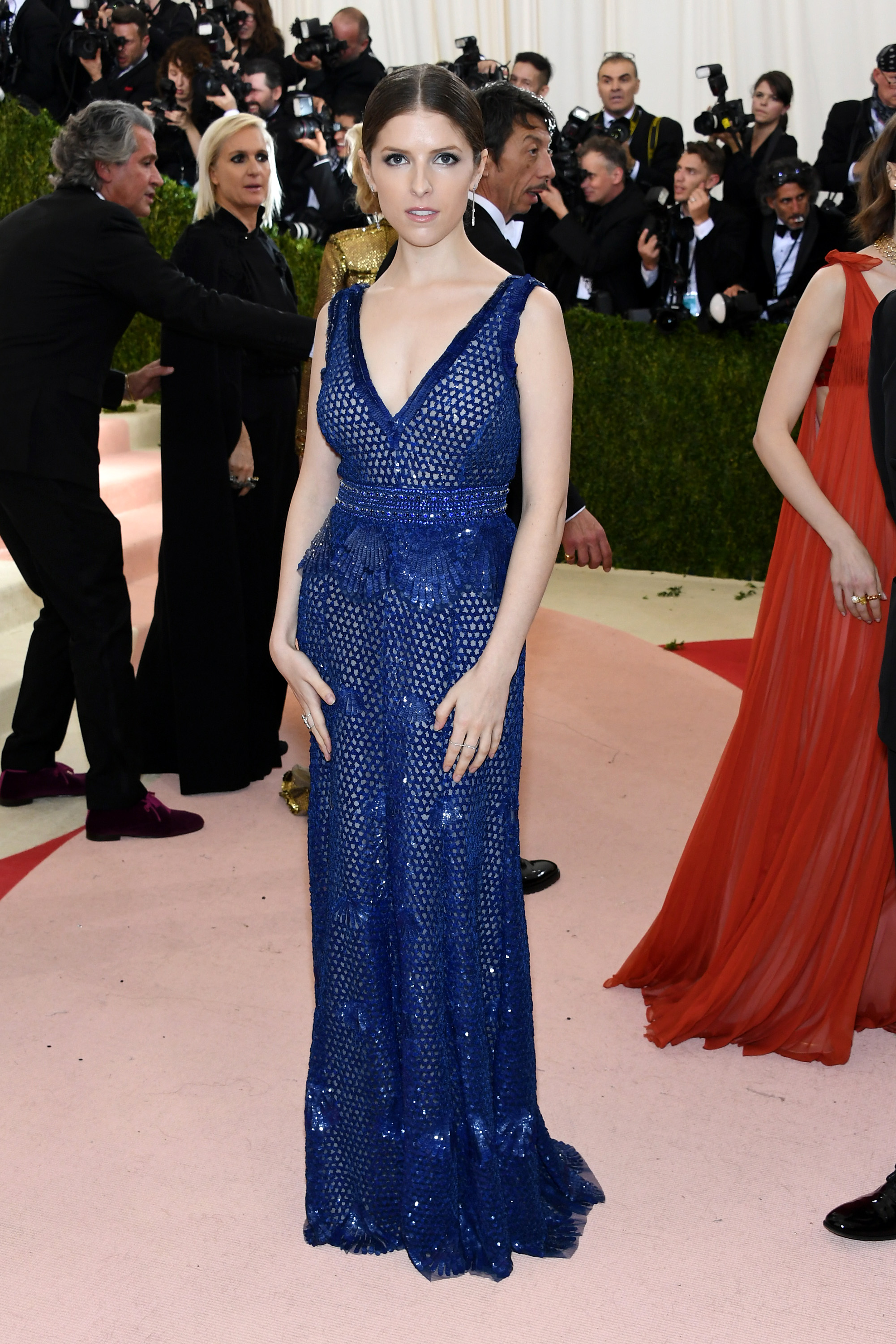 Anna Kendrick attends  Manus x Machina: Fashion In An Age Of Technology  Costume Institute Gala at Metropolitan Museum of Art on May 2, 2016 in New York City.