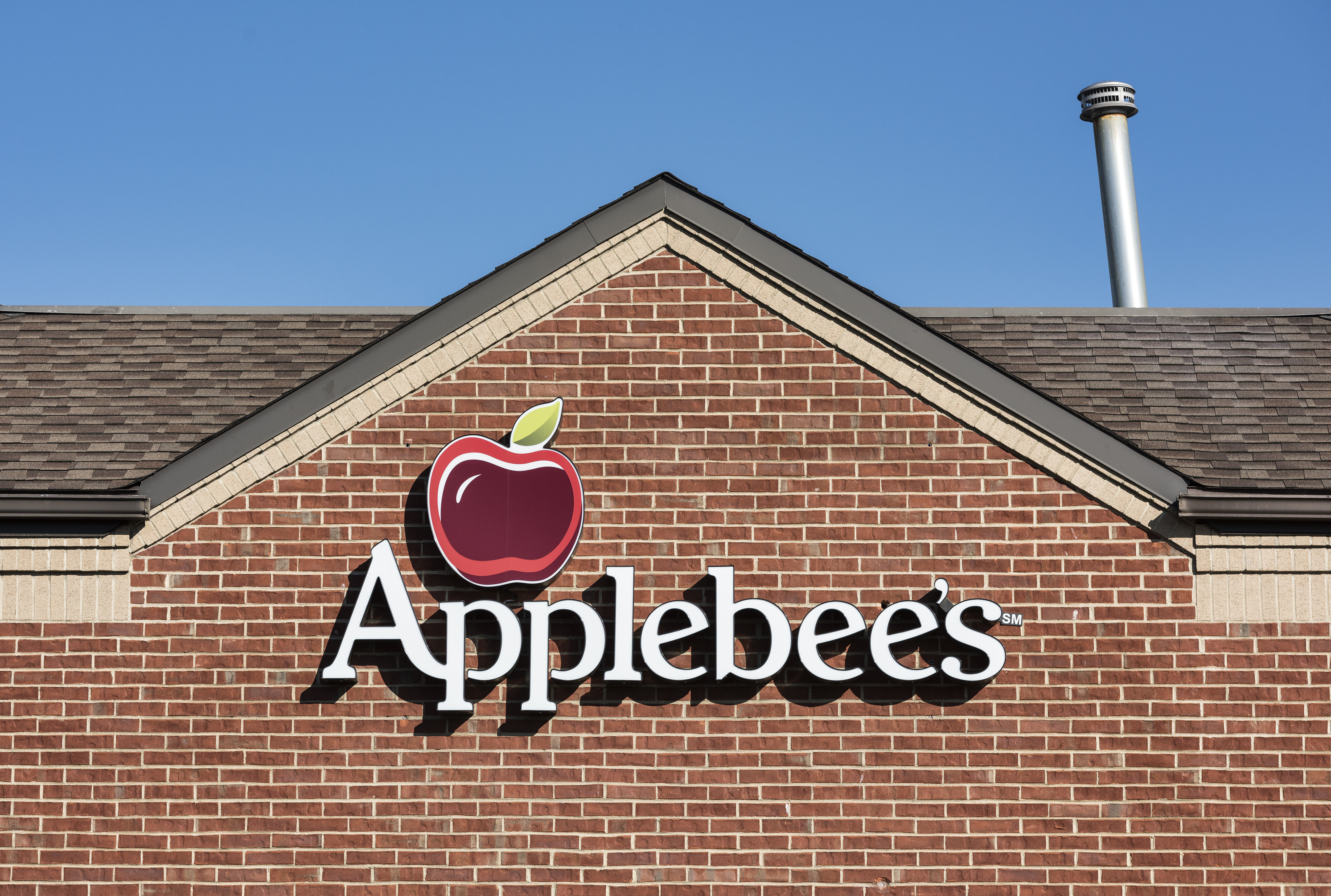 Applebee's restaurant logo is seen at a location in Poughkeepsie, New York.