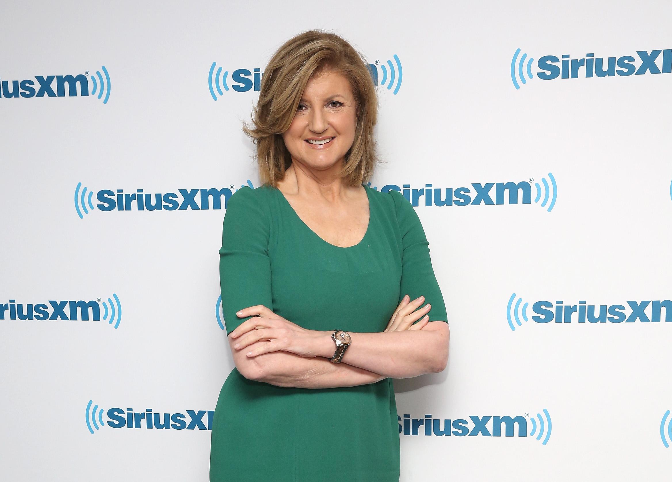 Arianna Huffington visits at SiriusXM Studio on April 26, 2016 in New York City.