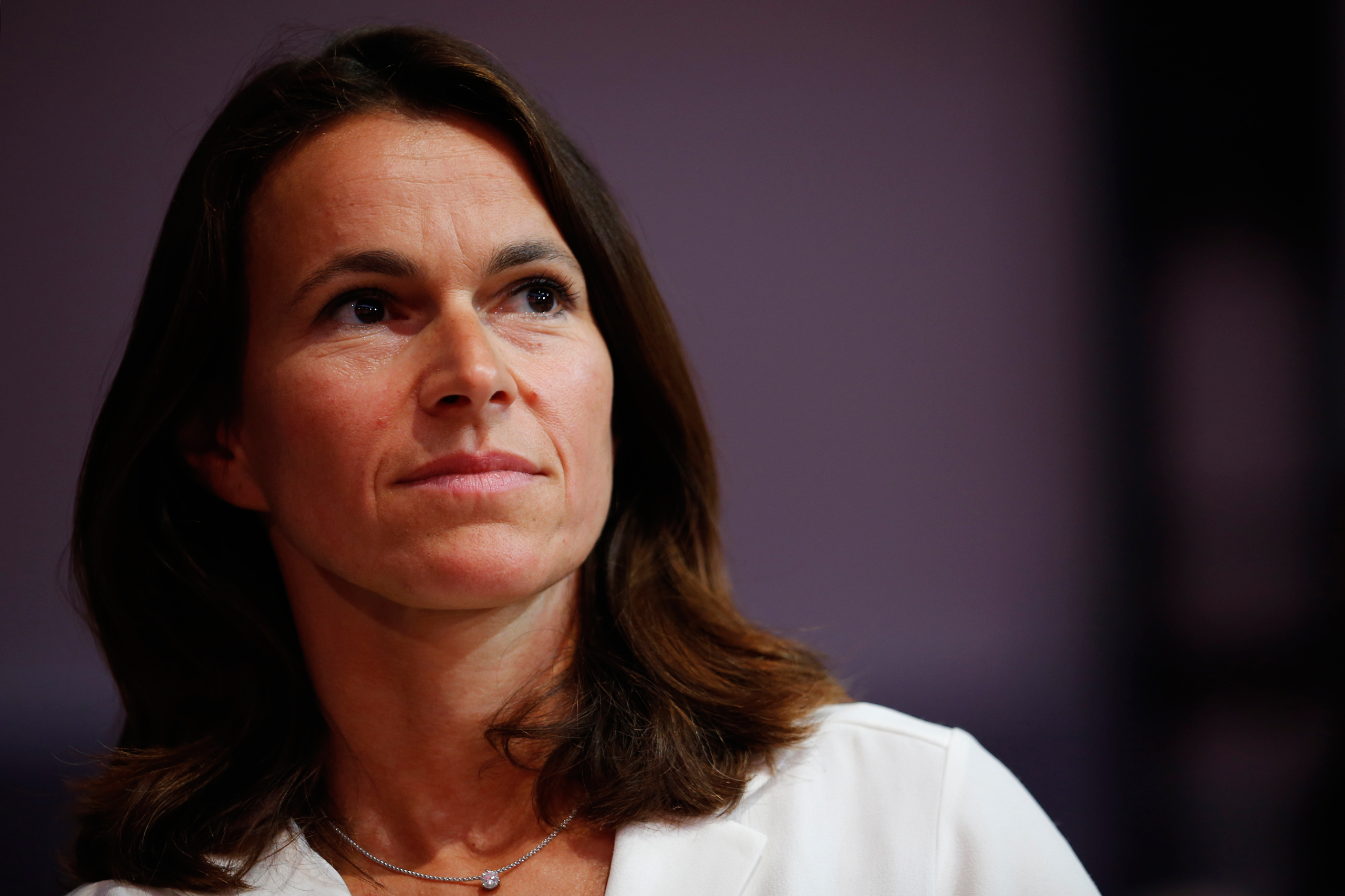 French Culture Minister Aurelie Filippetti, attends the Socialist Party's  Universite d'ete  summer meeting in La Rochelle, France, Aug. 30, 2014.