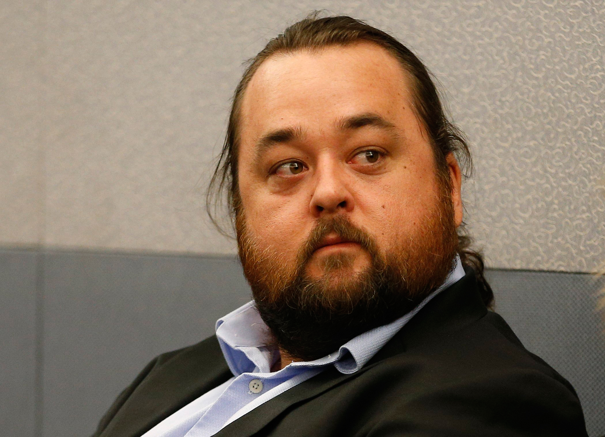 Austin Lee Russell, better known as Chumlee from the TV series  Pawn Stars,  appears in court in Las Vegas on May 23, 2016.