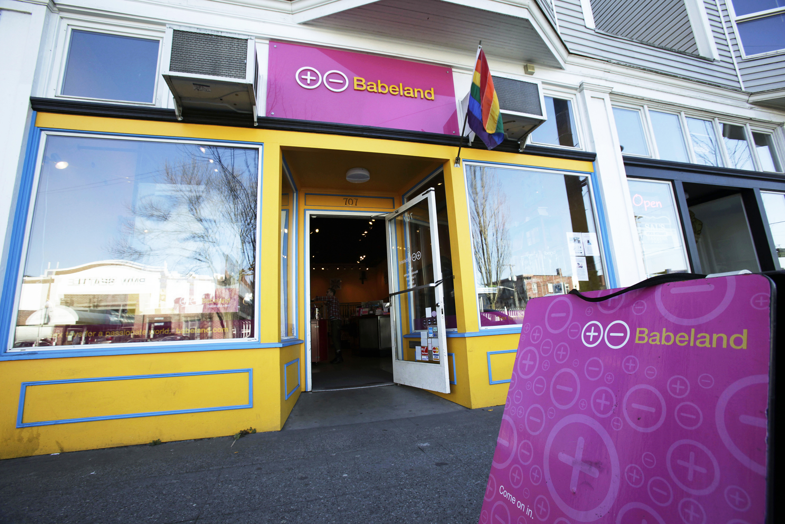 The exterior of Babeland, a store which sells sex toys, adult DVDs, magazines and other erotica in Seattle, Feb. 20, 2009.