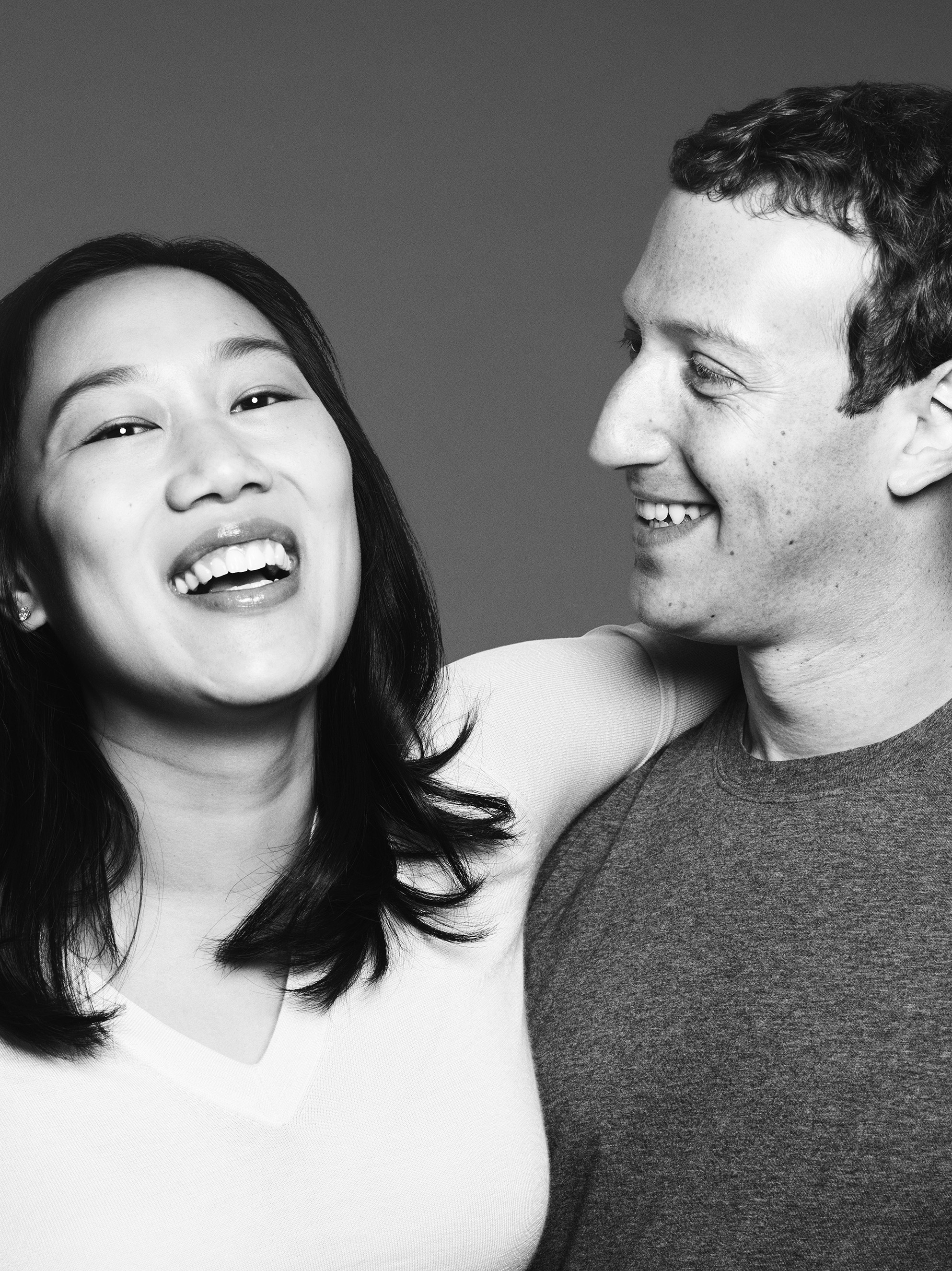 Priscilla Chan and Mark Zuckerberg from  The 100 Most Influential People.