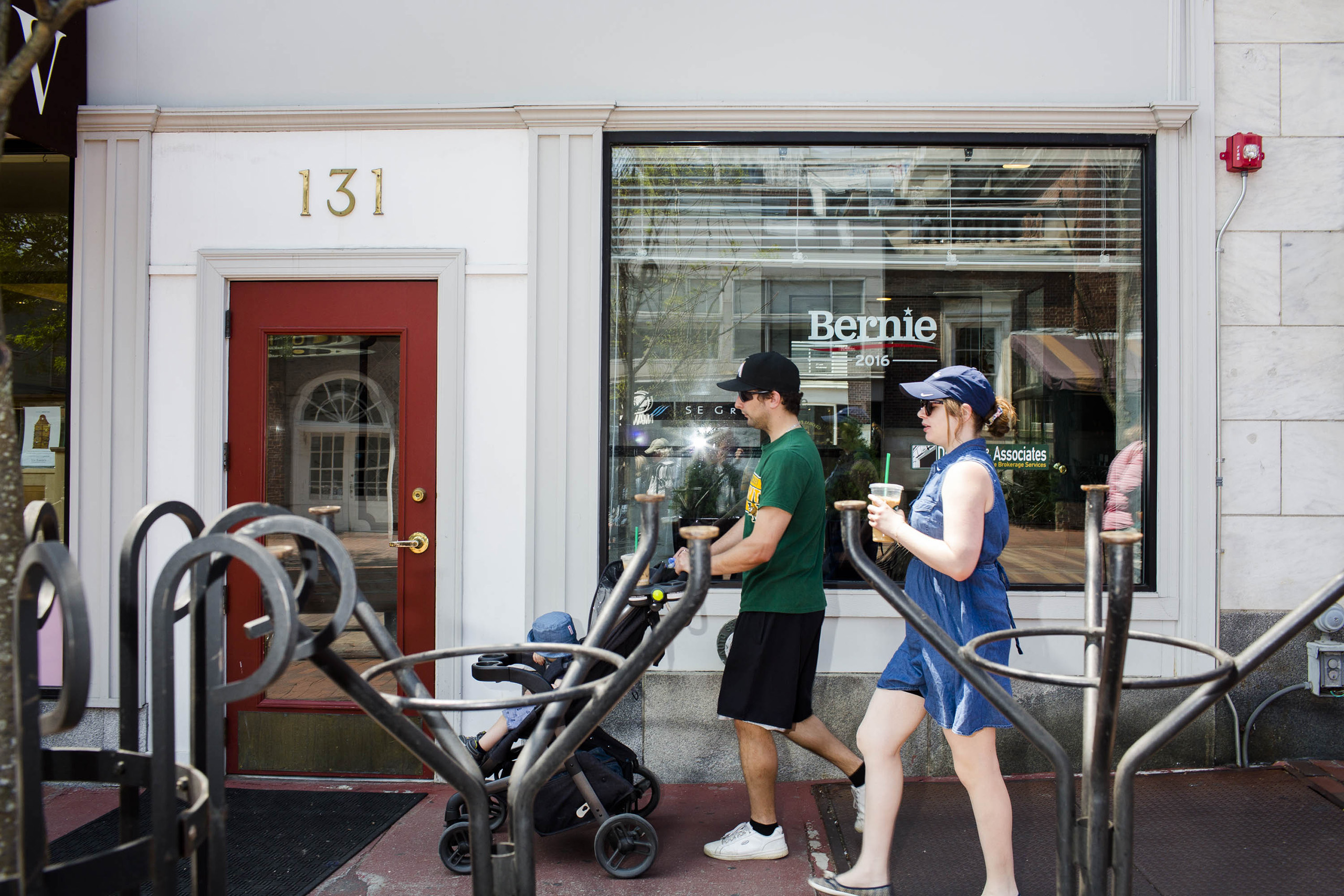Outside of Bernie Sanders campaign headquarters on May 23, 2016, in Burlington, VT.