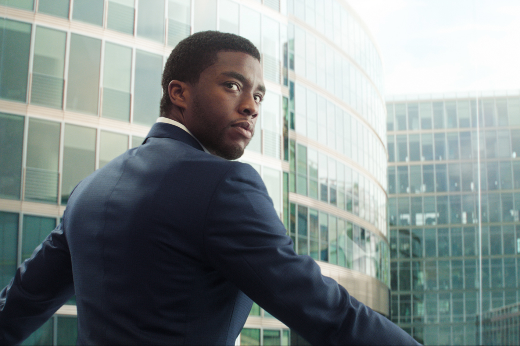 Chadwick Boseman as T'Challa in Captain America: Civil War.