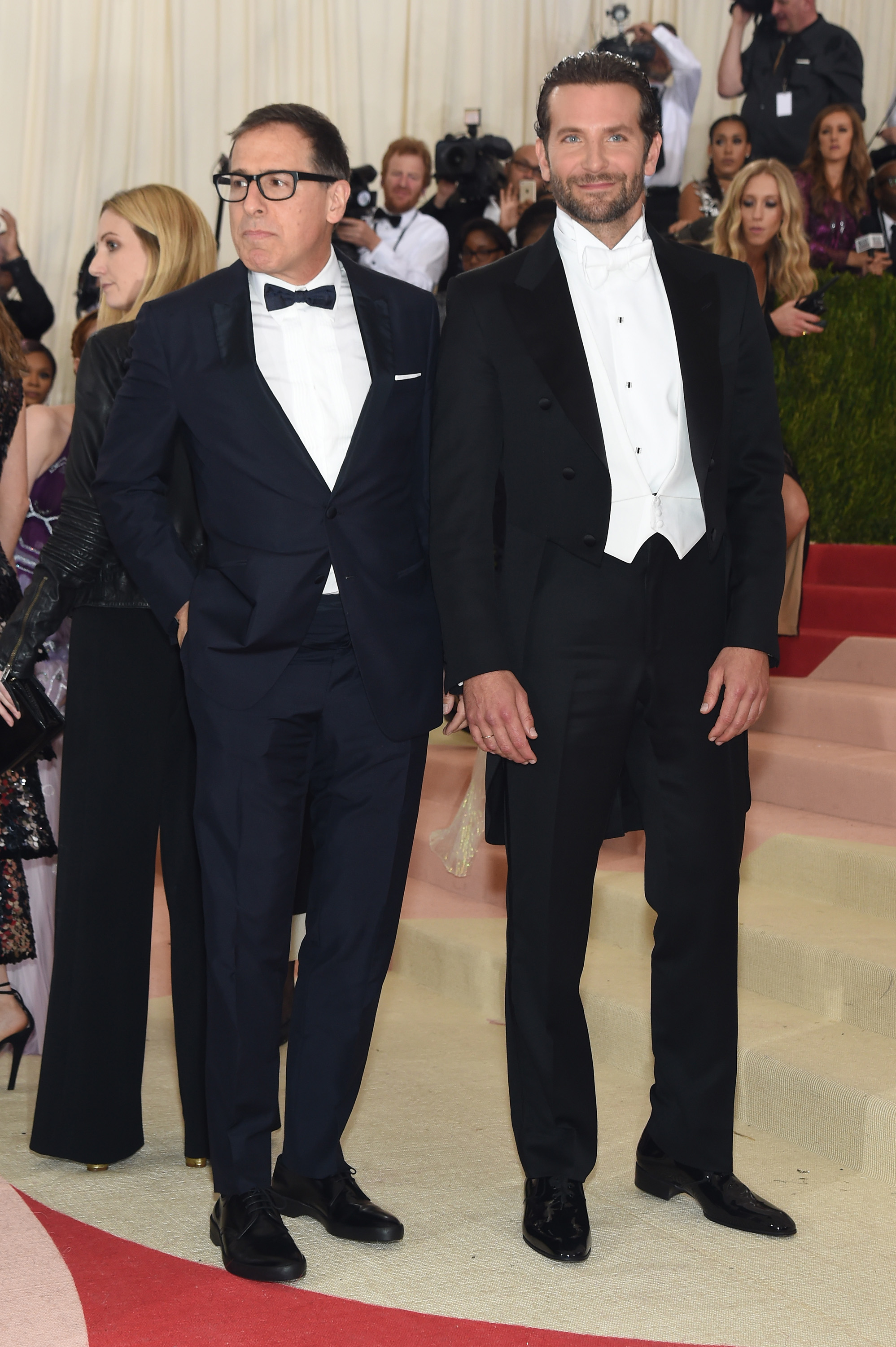Director David O. Russell and Bradley Cooper attend  Manus x Machina: Fashion In An Age Of Technology  Costume Institute Gala at Metropolitan Museum of Art on May 2, 2016 in New York City.