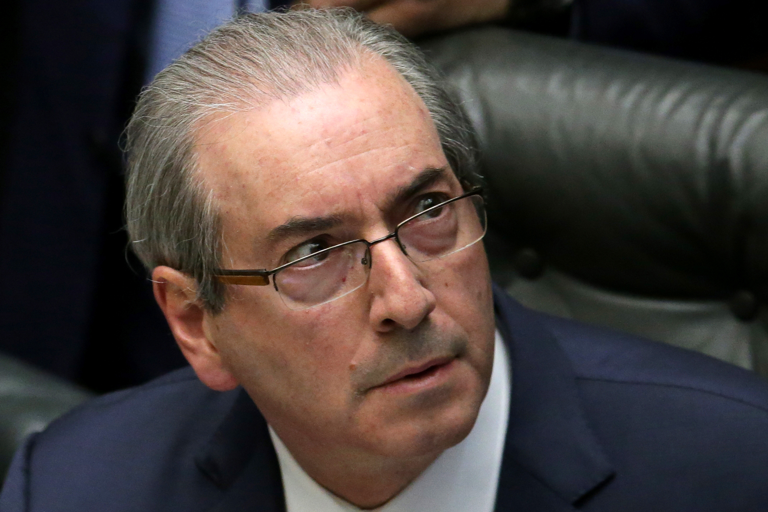 Brazilian House Speaker Eduardo Cunha attends a debate on whether or not to impeach the president, at the Chamber of Deputies in Brasilia on Apr. 15, 2016.