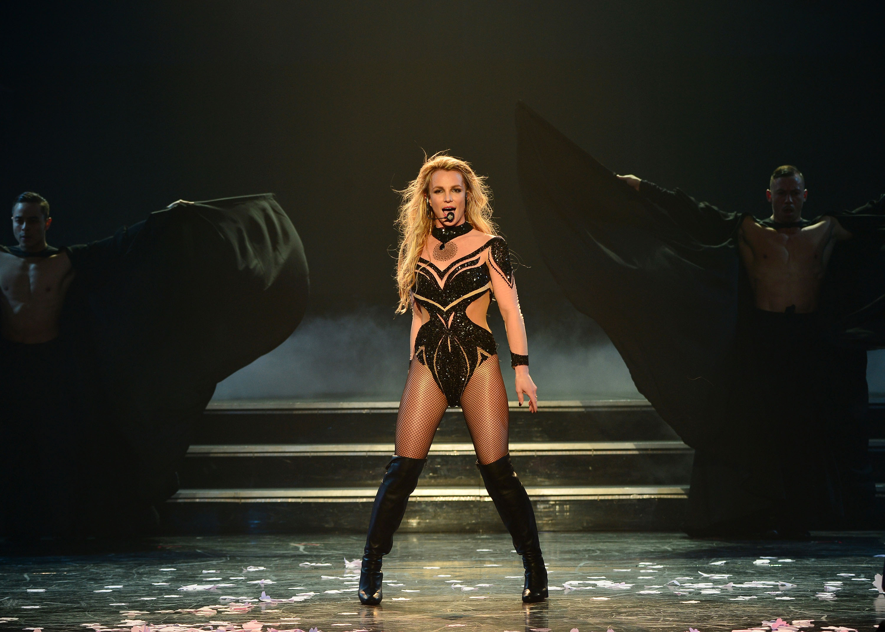 Britney Spears performs Britney Spears: Piece of Me Remixed. Reimagined. Still iconic. At Planet Hollywood Resort & Casino on February 26, 2016 in Las Vegas, Nevada.