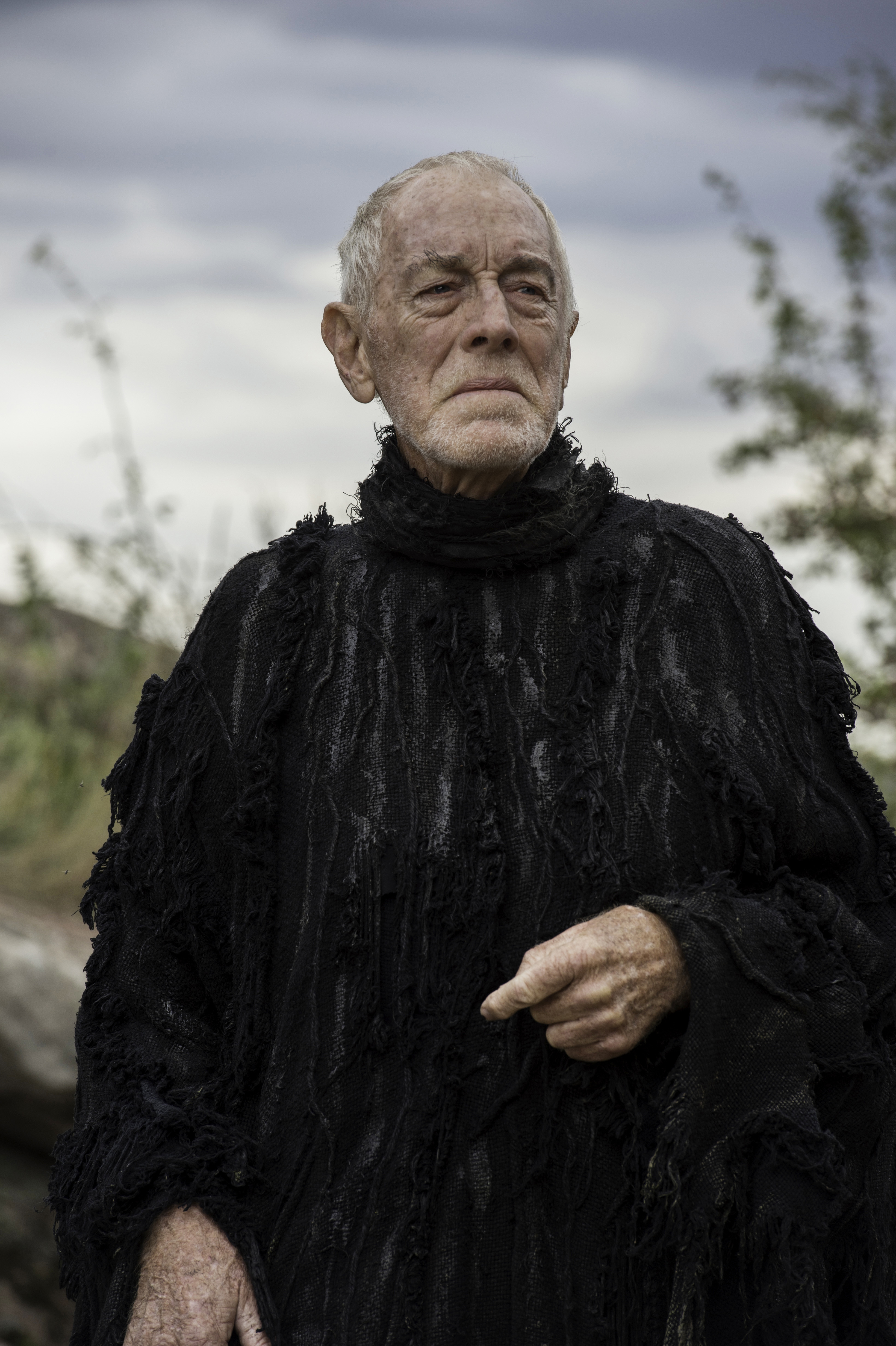 Max von Sydow as the Three-Eyed Raven in Game of Thrones, Season 6, Episode 3, 2016.
