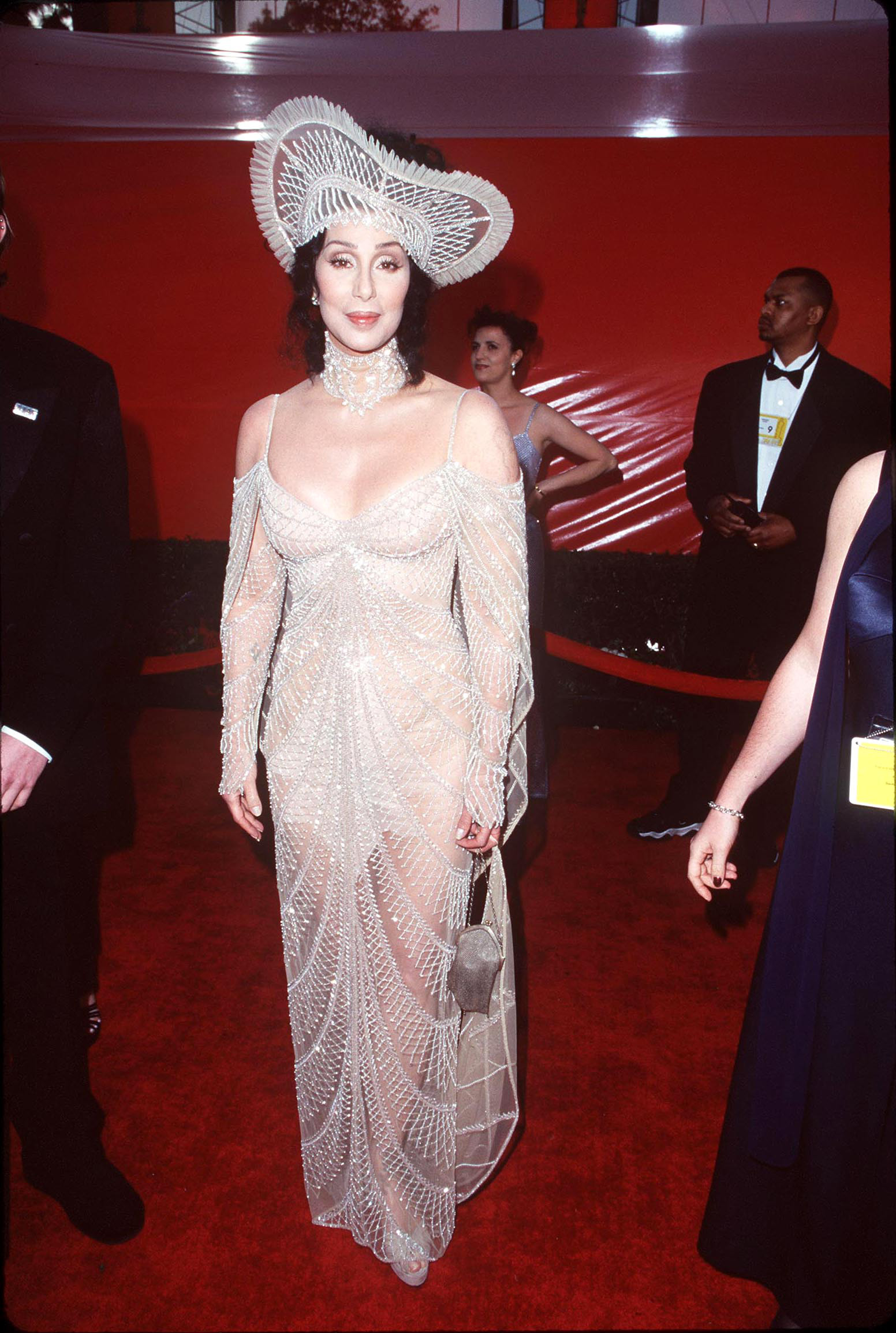 Cher during the 70th Annual Academy Awards in Los Angeles on March 23, 1998.