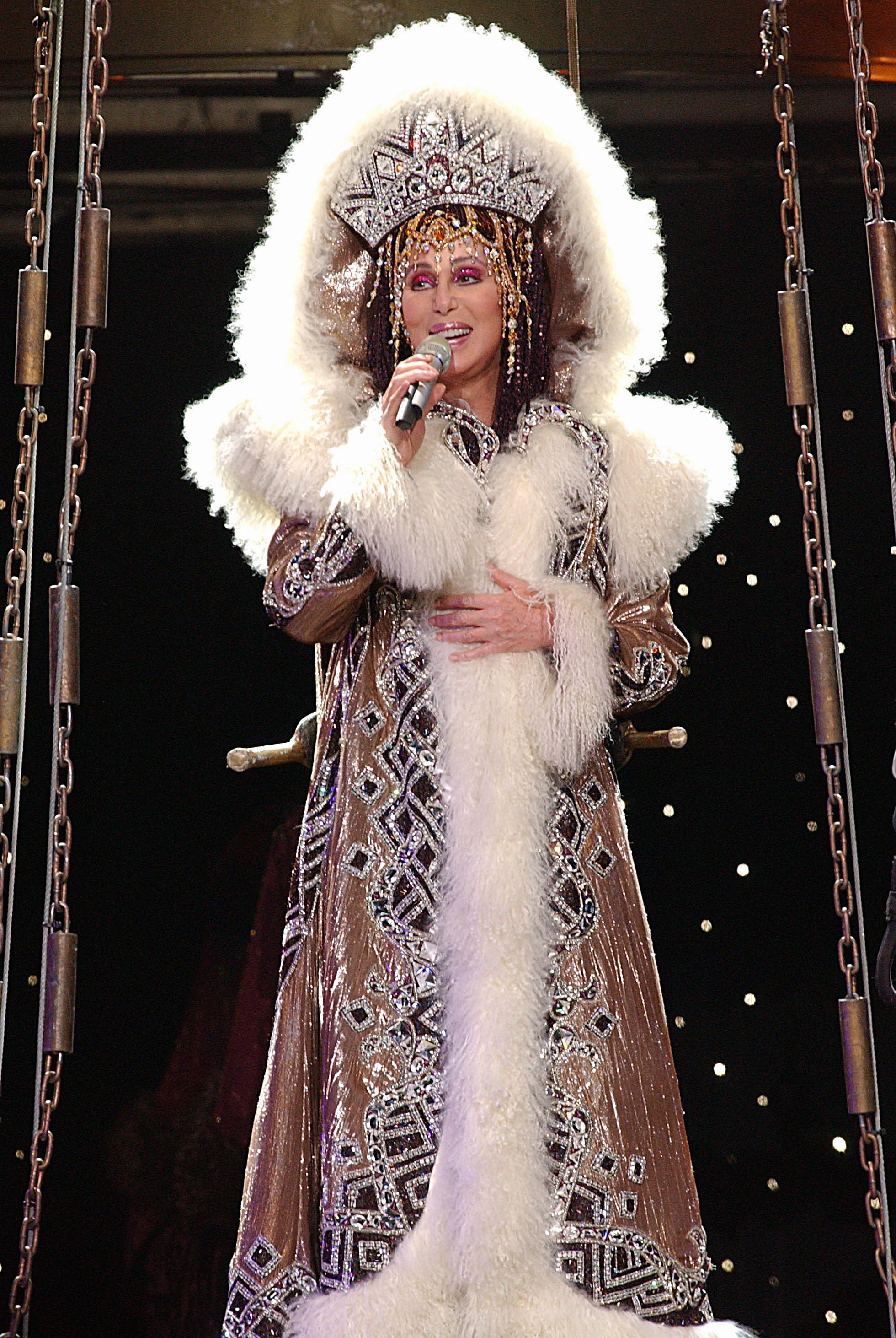 Cher performs in Australia in 2005.