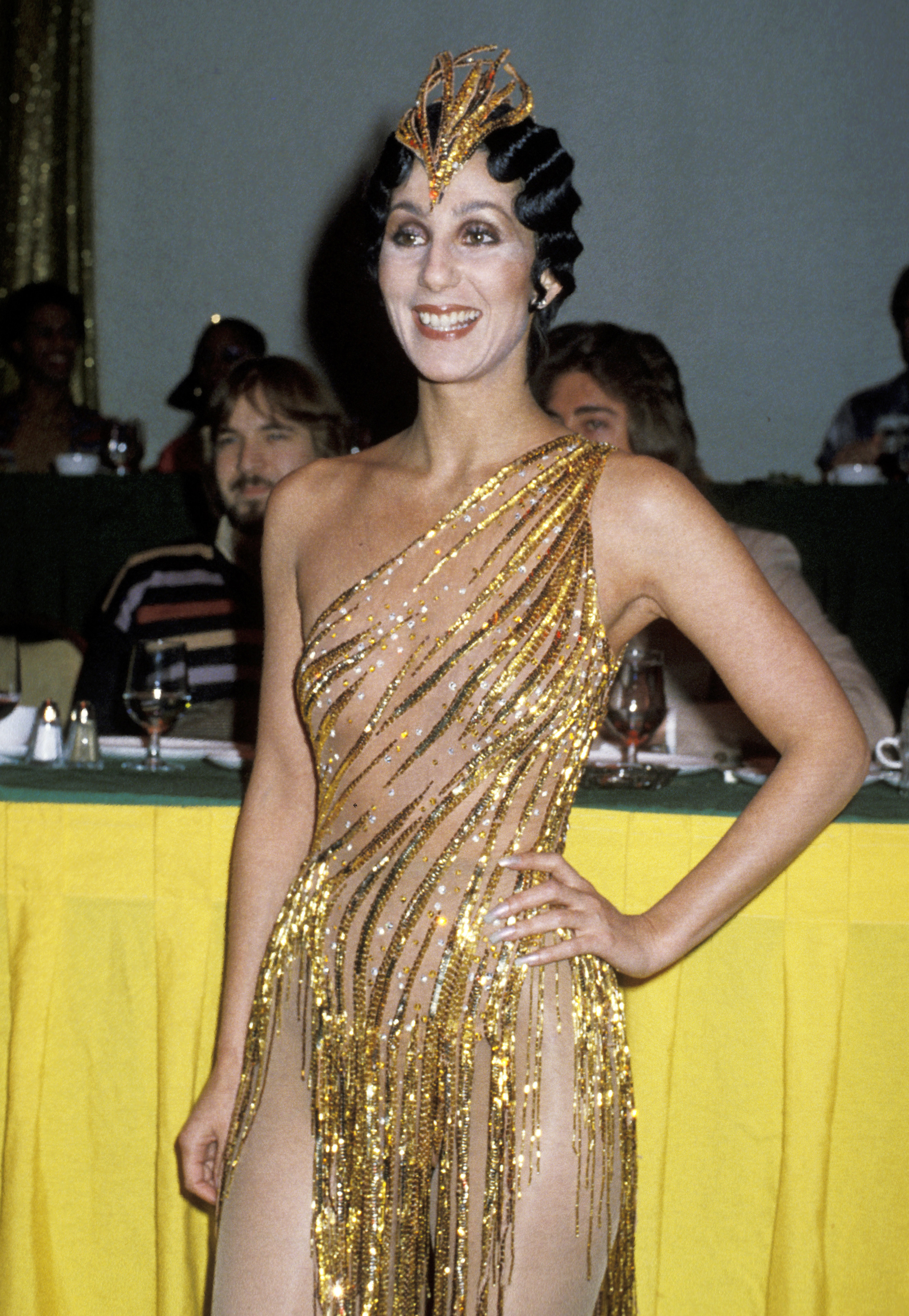 Cher during the 1978 Disco Convention Banquet in New York City on Feb. 28, 1979.