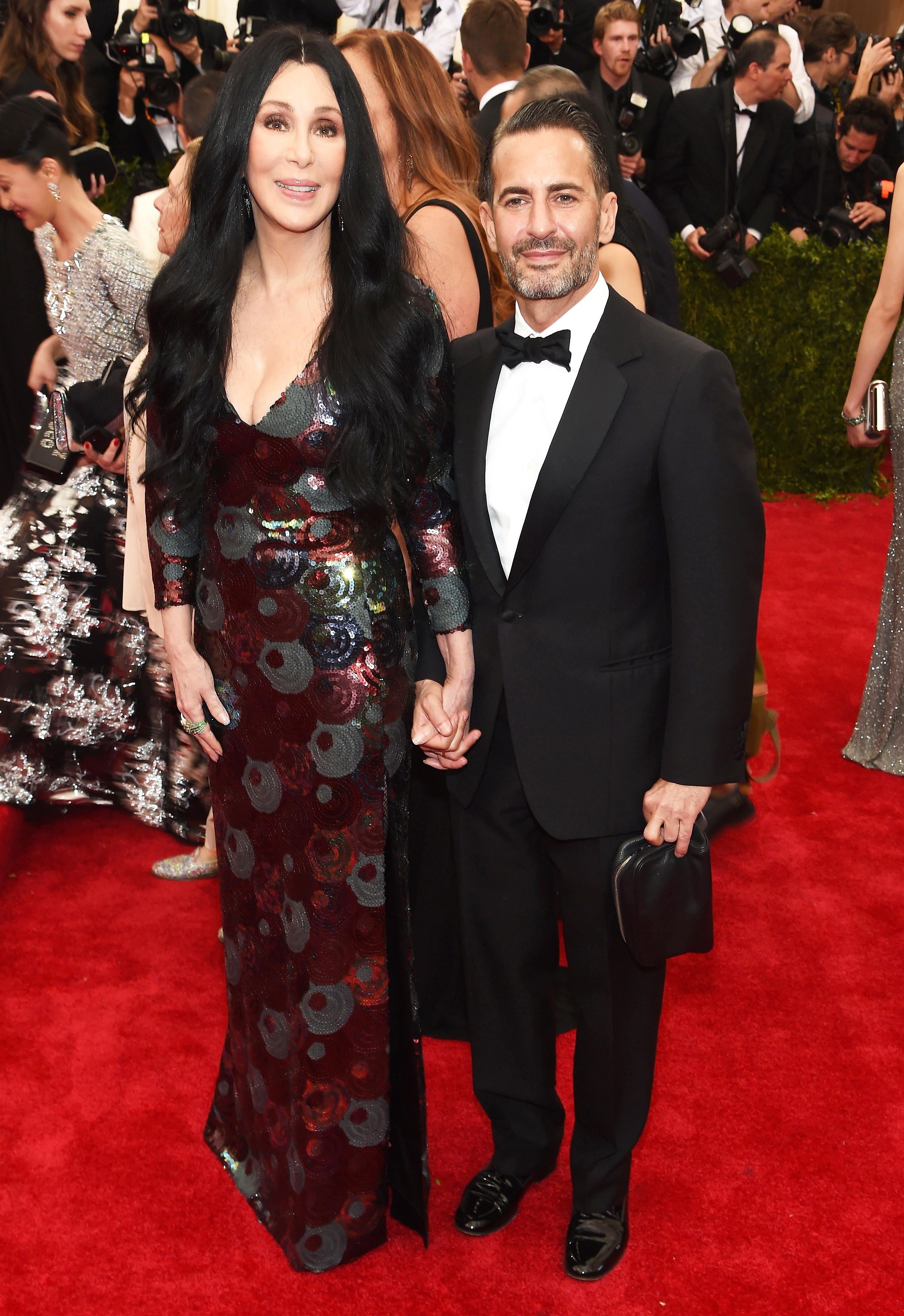 Cher and designer Marc Jacobs attend the Metropolitan Museum's Costume Institute Gala in New York City on May 4, 2015.