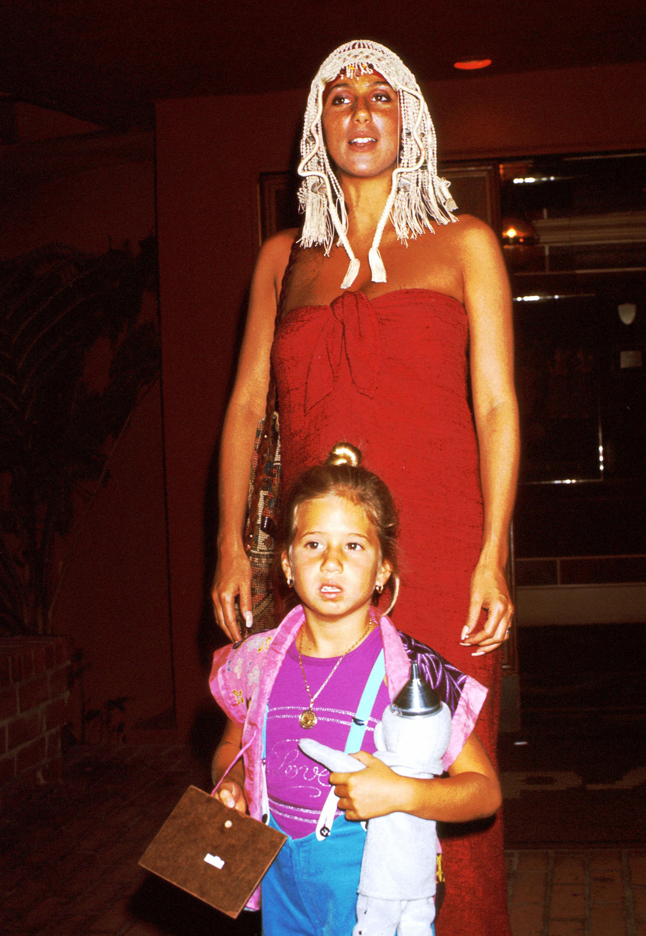 Cher with daughter Chastity Bono in 1972.