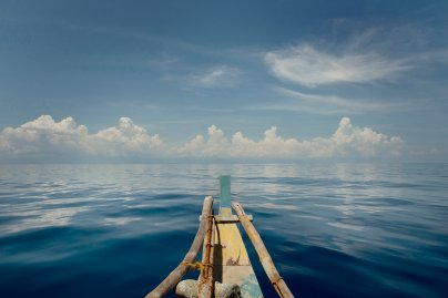 """The """"Wonder Boy"""" a 36-foot bamboo outrigger boat, on which TIME's East Asia bureau chief Hannah Beech and photographer Chiara Goia, made their voyage to the Spratly Islands in the South China Sea, May 10, 2016."""