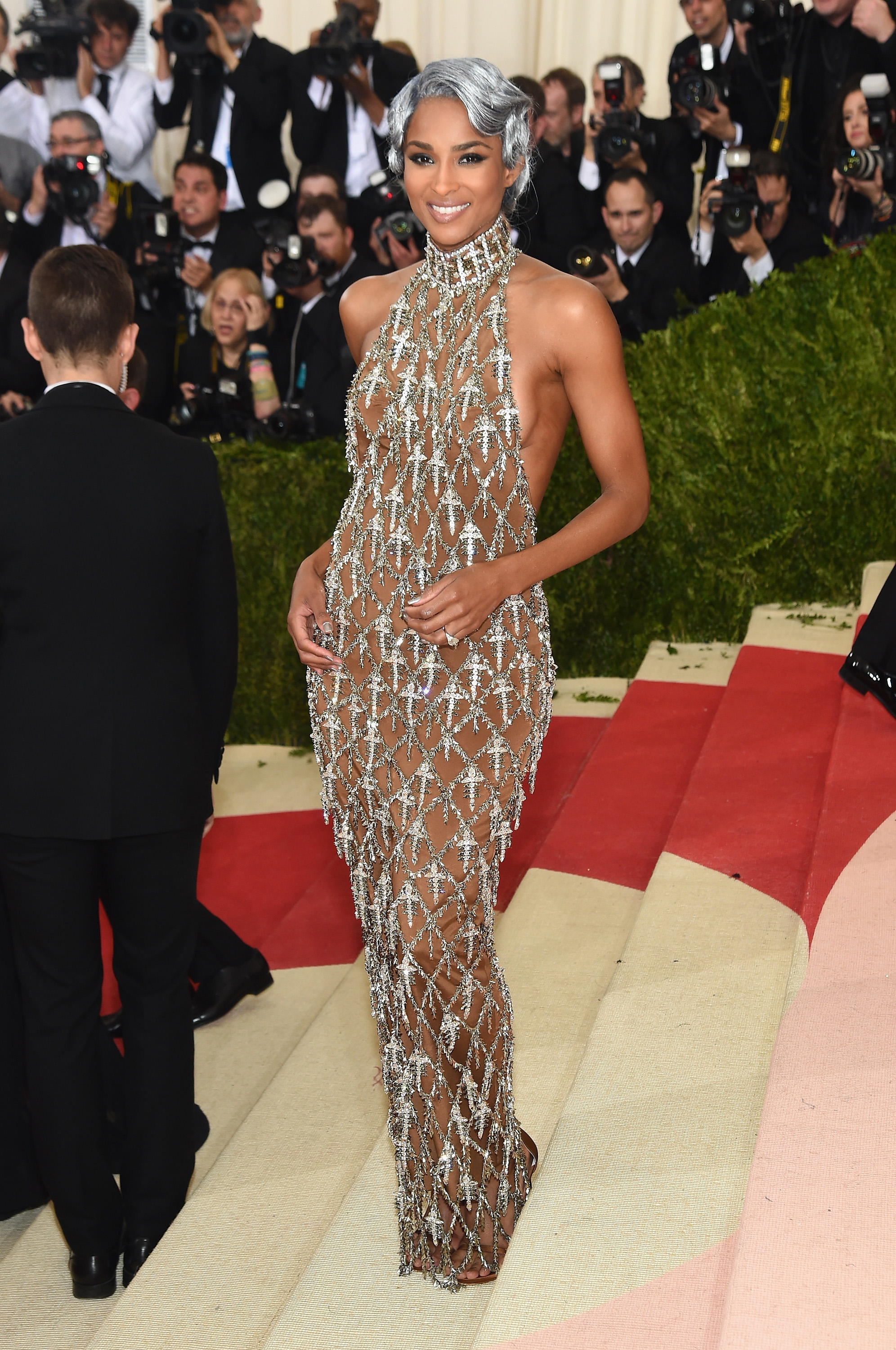 Ciara attends  Manus x Machina: Fashion In An Age Of Technology  Costume Institute Gala at Metropolitan Museum of Art on May 2, 2016 in New York City.