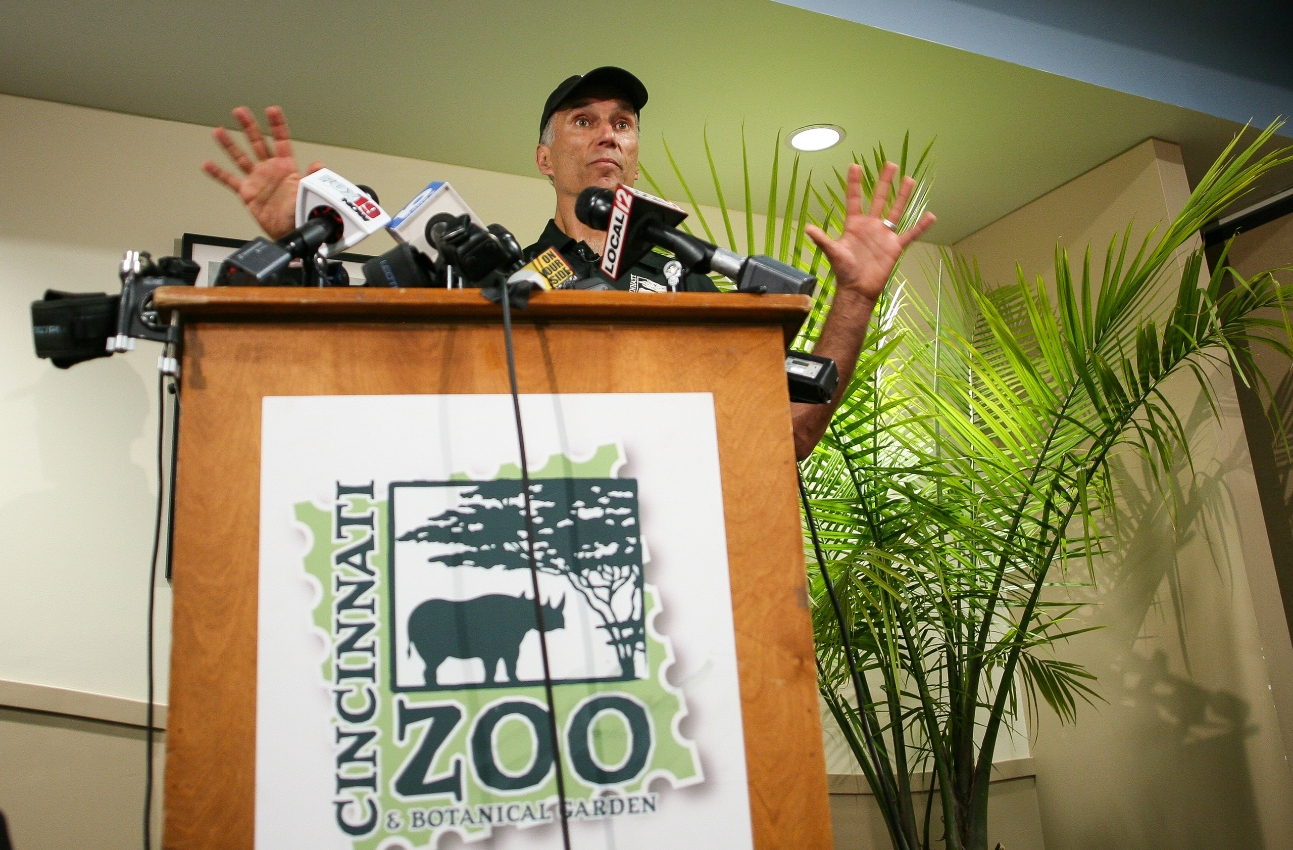 Thane Maynard, Executive Director of the Cincinnati Zoo and Botanical Gardens, speaks to reporters two days after a boy tumbled into a moat and officials were forced to kill Harambe, a Western lowland gorilla, in Cincinnati, Oh., on May 30, 2016.