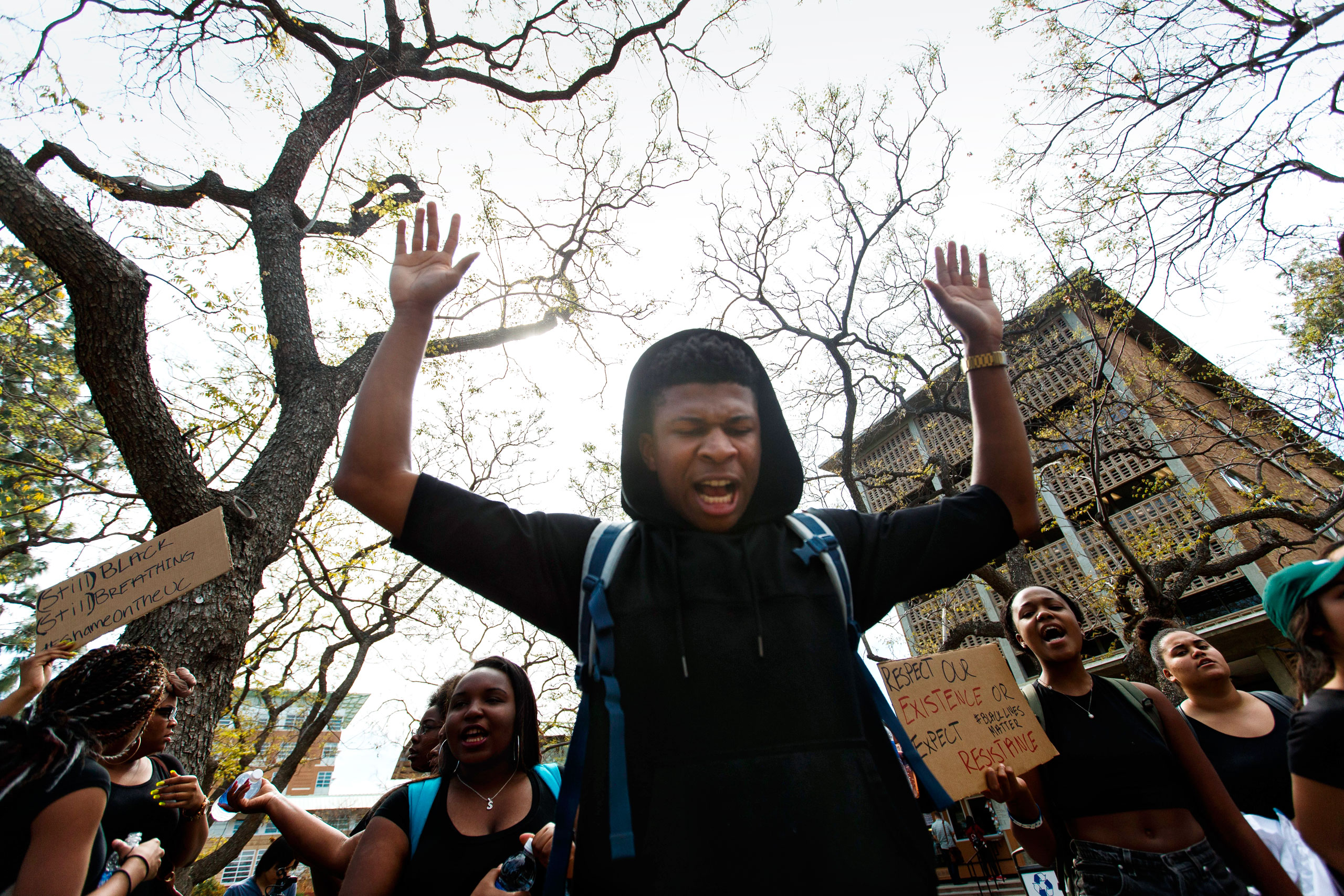 The Feb.29 Black Student Union protest at UC Riverside was one of hundreds at U.S. colleges this year