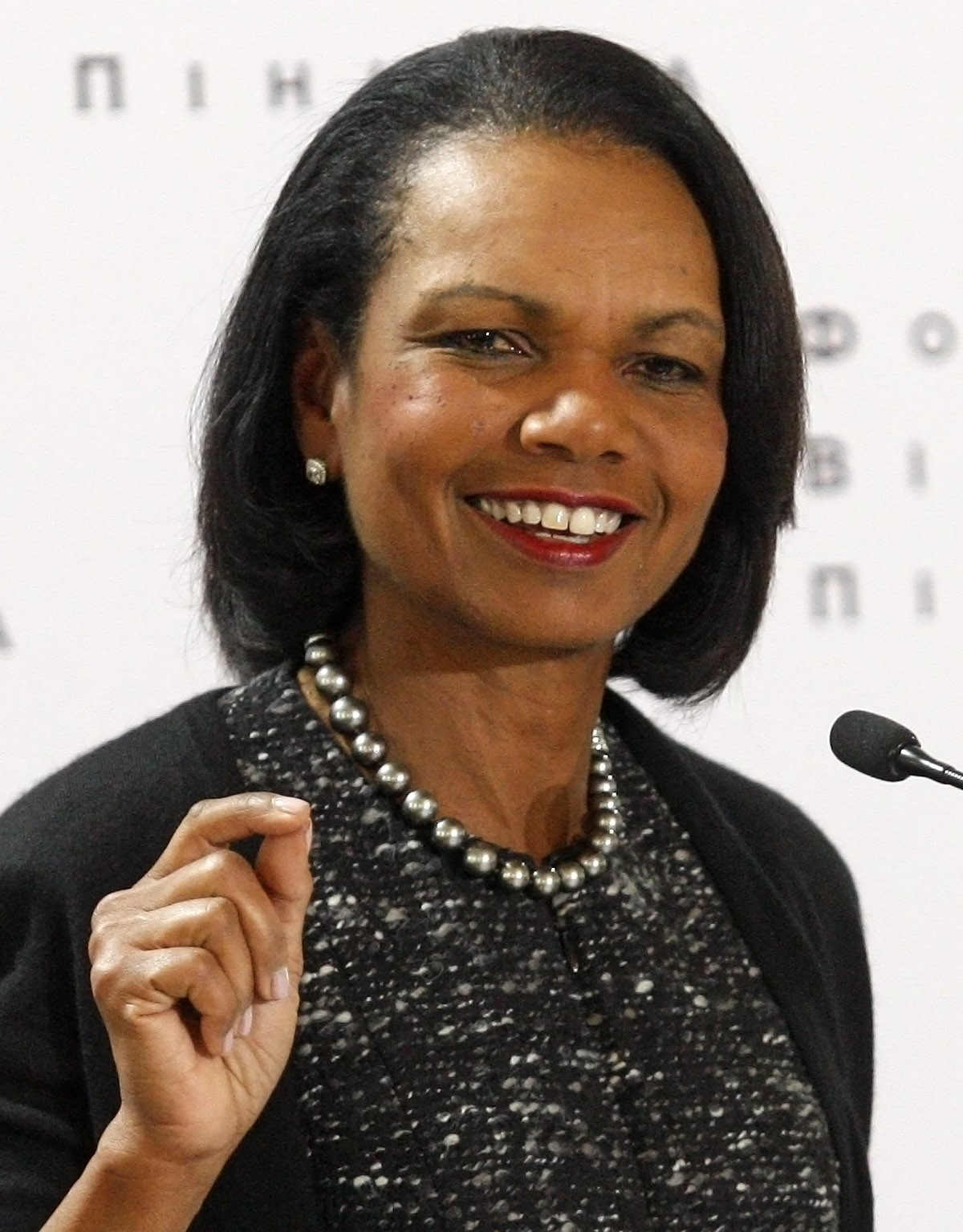 Former United States Secretary of State Condoleezza Rice delivers a speech in Kiev, Ukraine on Mar. 9, 2016.