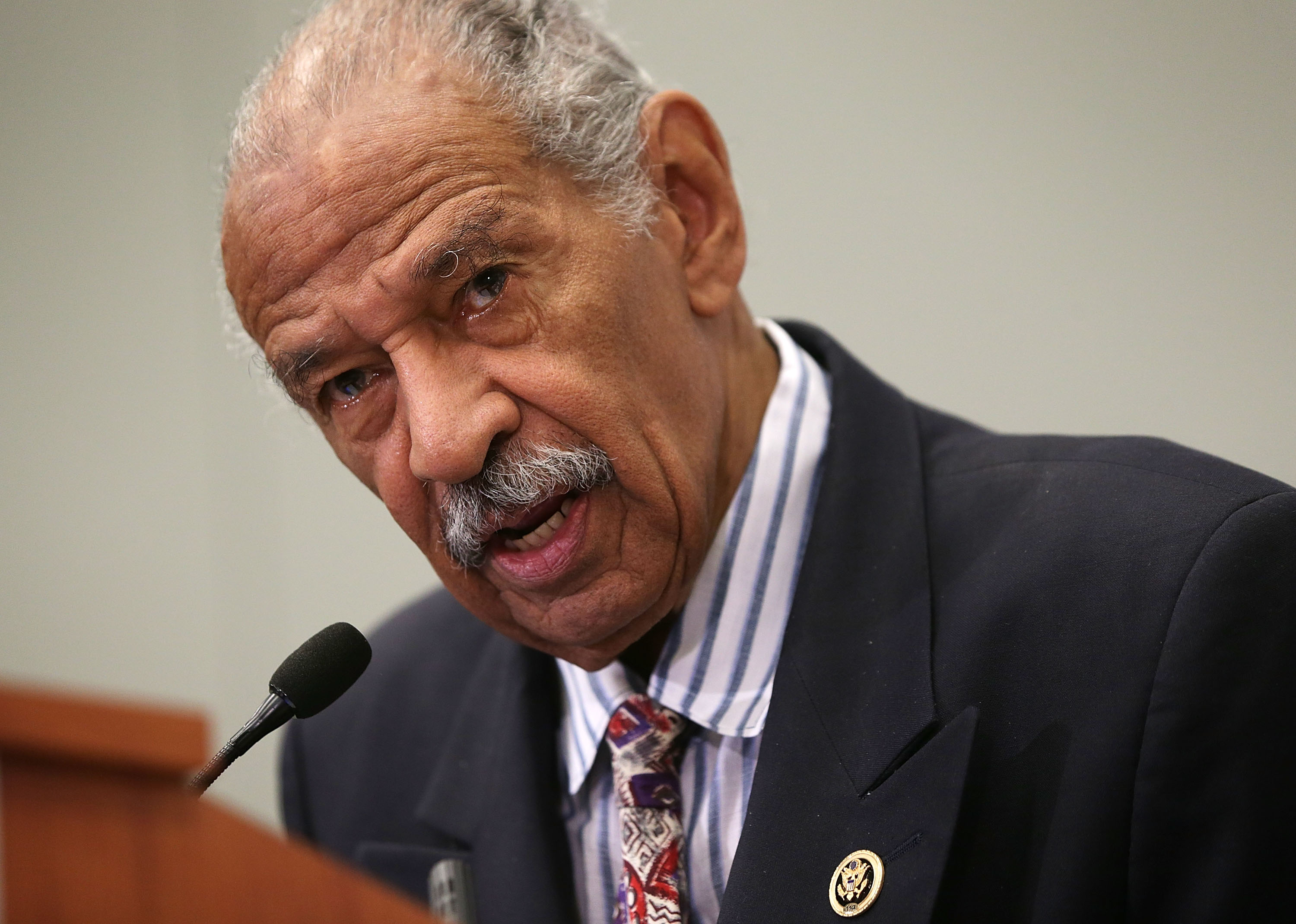 Rep. John Conyers (D-MI) speaks at a session during the Congressional Black Caucus Foundation's 45th annual legislative conference in in Washington, D.C., on Sept. 18, 2015.
