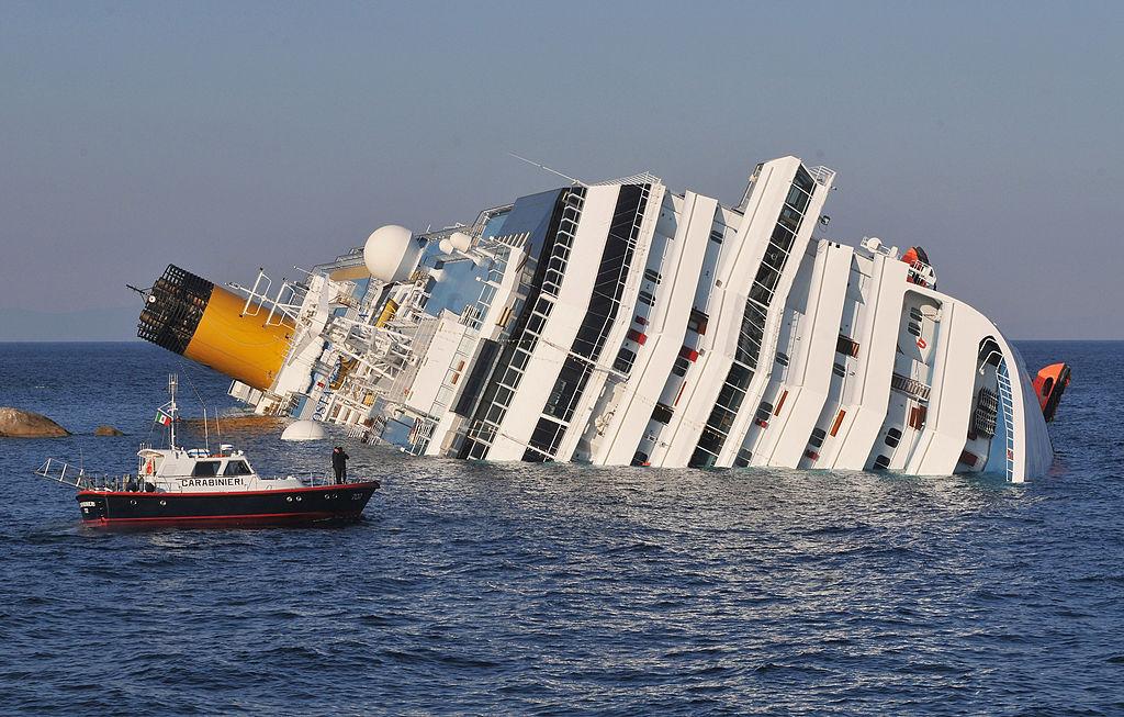 The cruise ship Costa Concordia lies stricken off the shore of the island of Giglio on Jan. 14, 2012 in Giglio Porto, Italy.