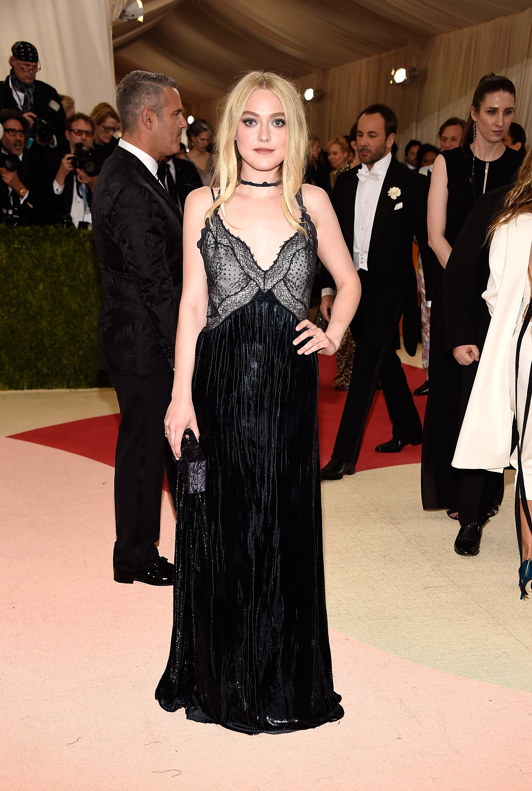 Dakota Fanning attends  Manus x Machina: Fashion In An Age Of Technology  Costume Institute Gala at Metropolitan Museum of Art on May 2, 2016 in New York City.