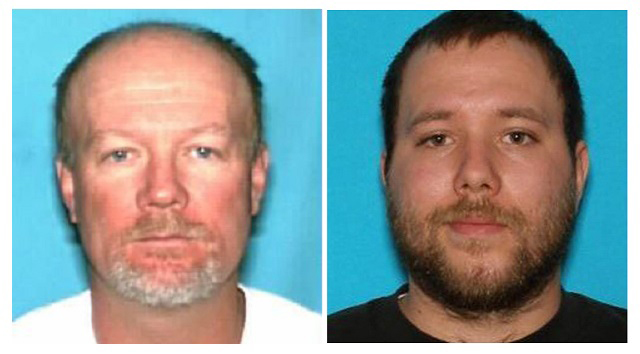 Utah police are searching for two suspects, Flint Wayne Harrison (left,) and Dereck James Harrison, after a woman and her four teenage daughters were lured to a house and tied in a basement before they managed to escape, on May 11, 2016.