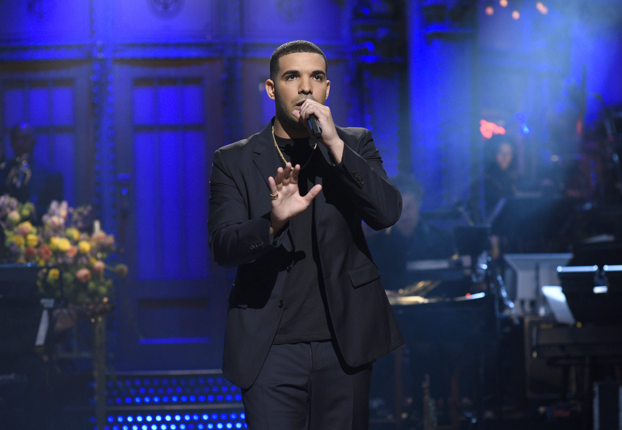 Drake at Saturday Night Live on May 14, 2016 -- (Photo by: Dana Edelson/NBC/NBCU Photo Bank via Getty Images)