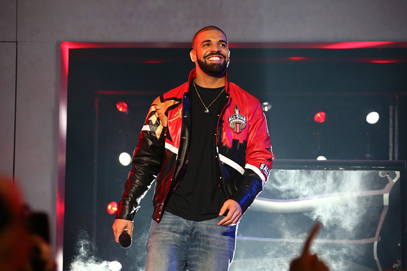 Rapper, Drake announces the starters before the NBA All-Star Game as part of 2016 NBA All-Star Weekend on February 14, 2016 at the Air Canada Centre in Toronto, Ontario, Canada.