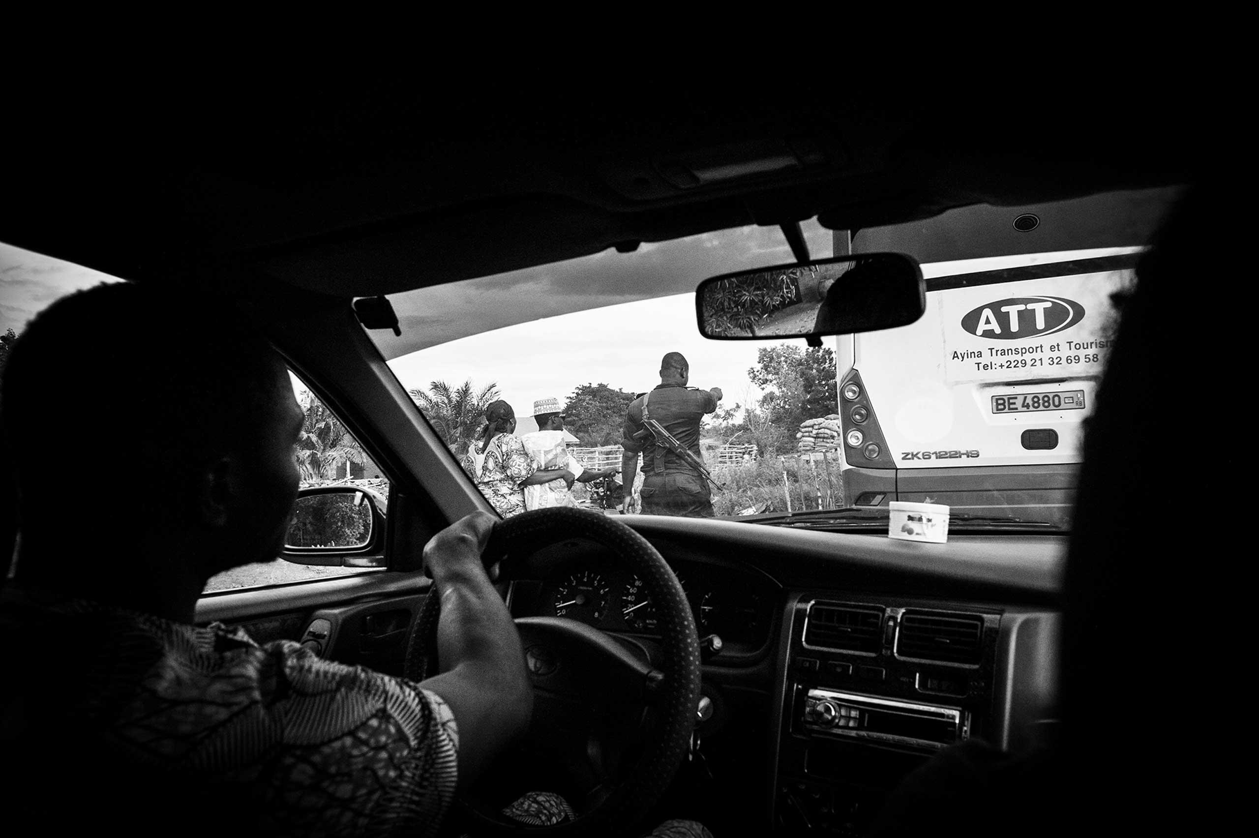 A roadside checkpoint.