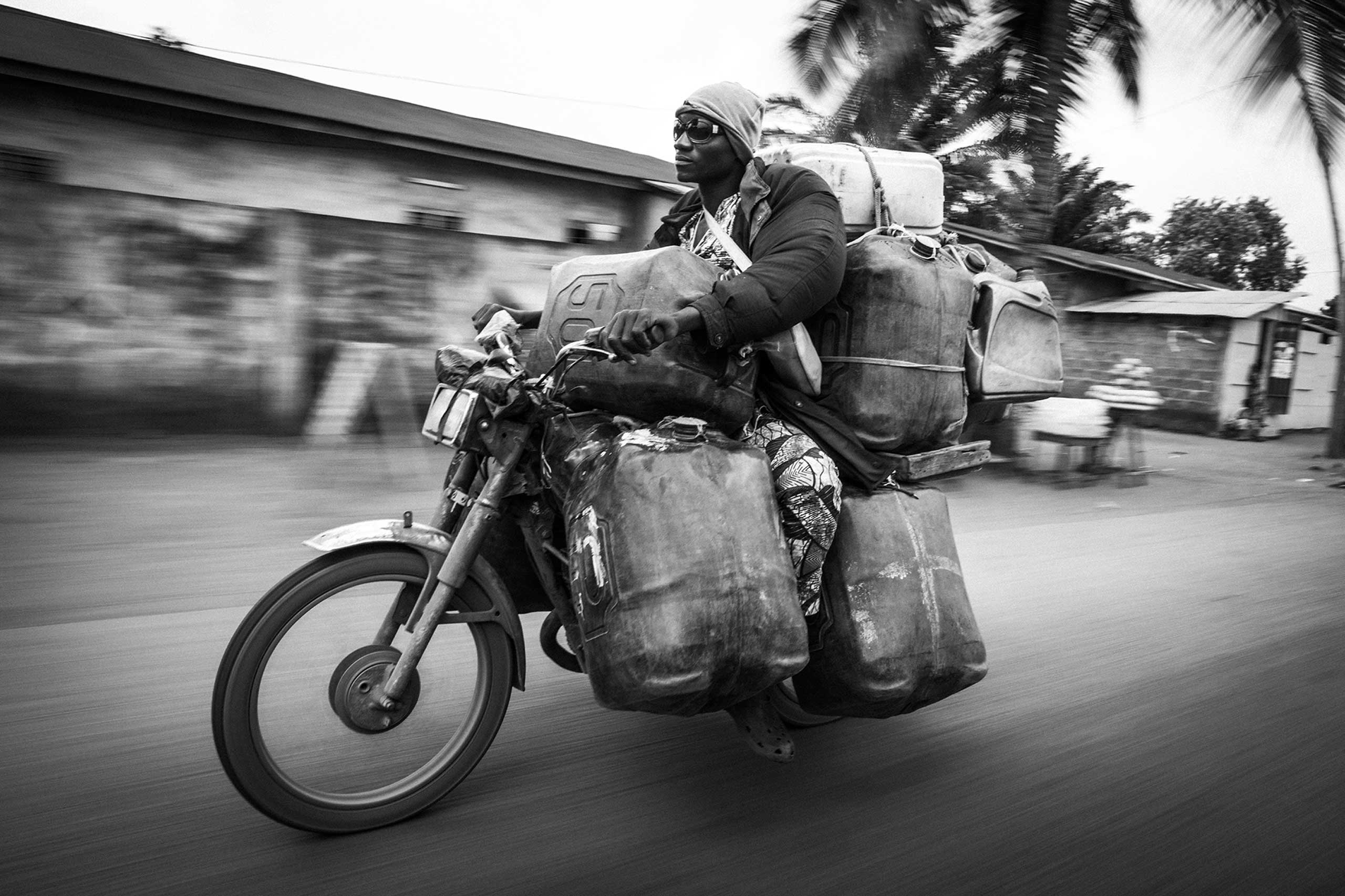 The 100cc motorbike is favored method of transport in the county.