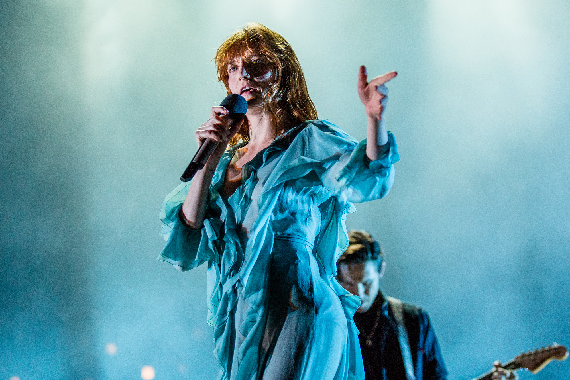 GULF SHORES, AL - MAY 22:  Florence Welch of Florence + The Machine performs at the Hangout Music Festival on May 22, 2016 in Gulf Shores, Alabama.  (Photo by Josh Brasted/WireImage)