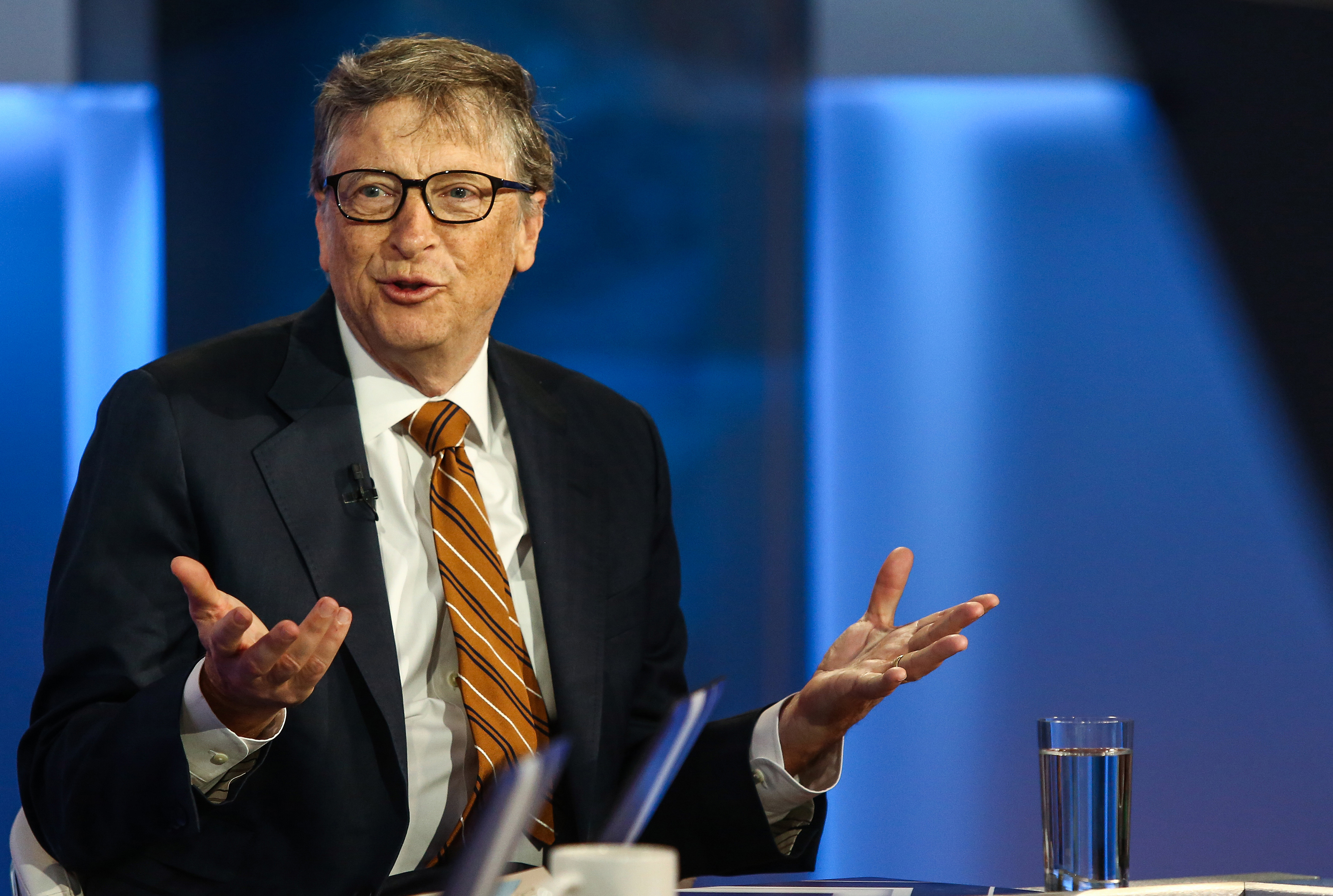 Bill Gates speaks during a Bloomberg Television interview in New York on Feb. 23, 2016.