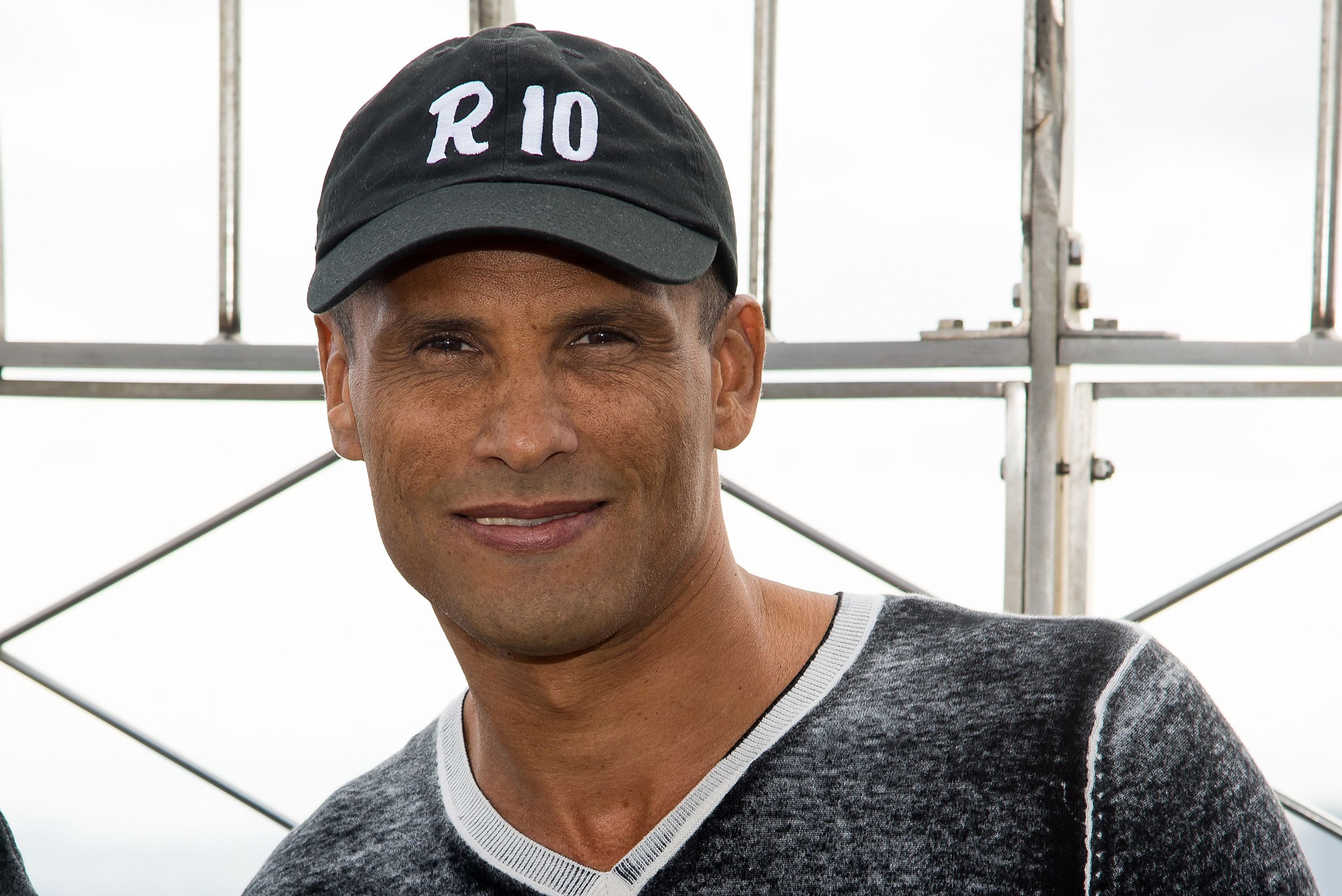 Soccer player Rivaldo visits The Empire State Building on March 17, 2015 in New York City.