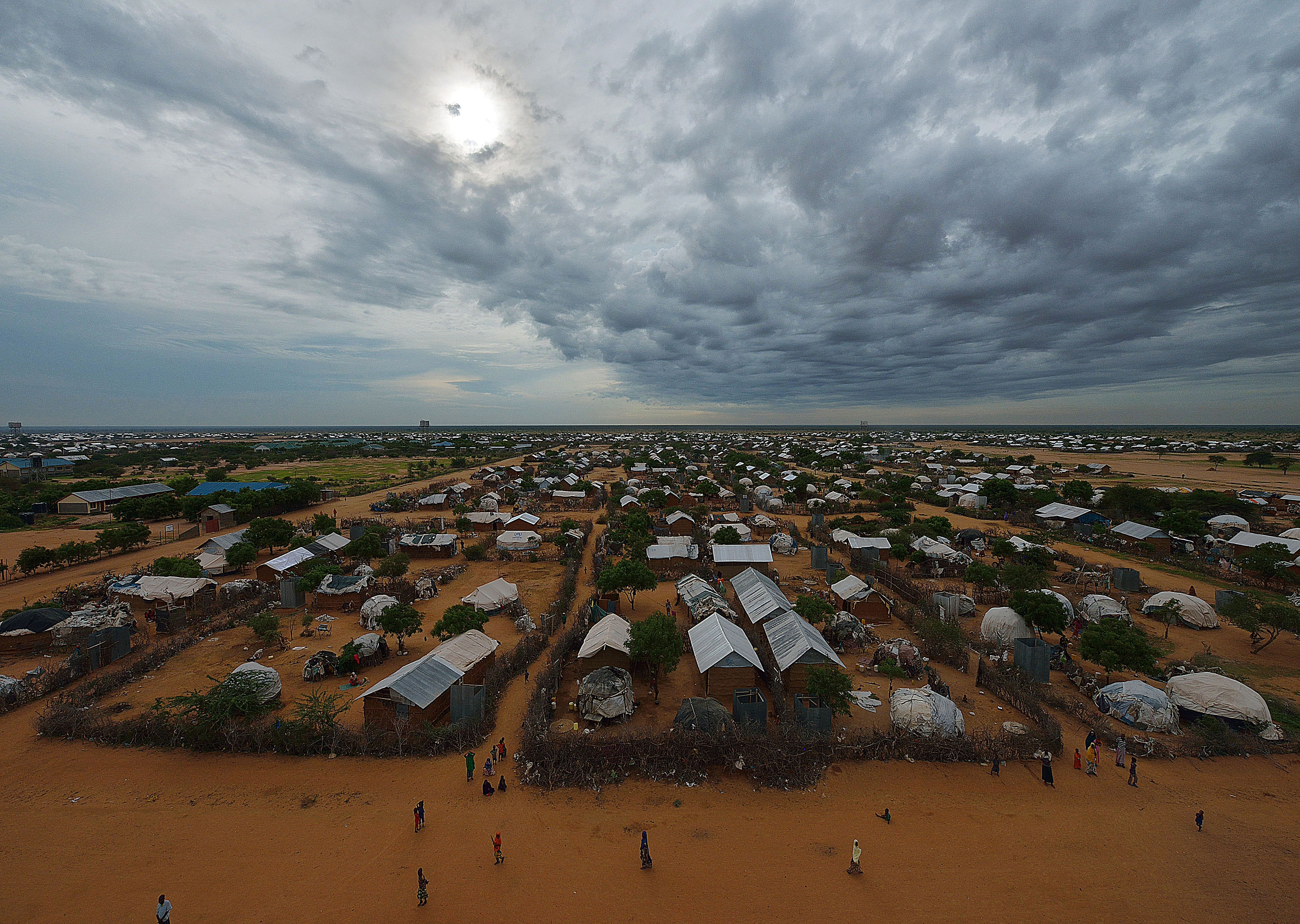 An overview of the part of the eastern sector of the IFO-2 camp in the sprawling Dadaab refugee camp, north of the Kenyan capital Nairobi, April 28, 2015