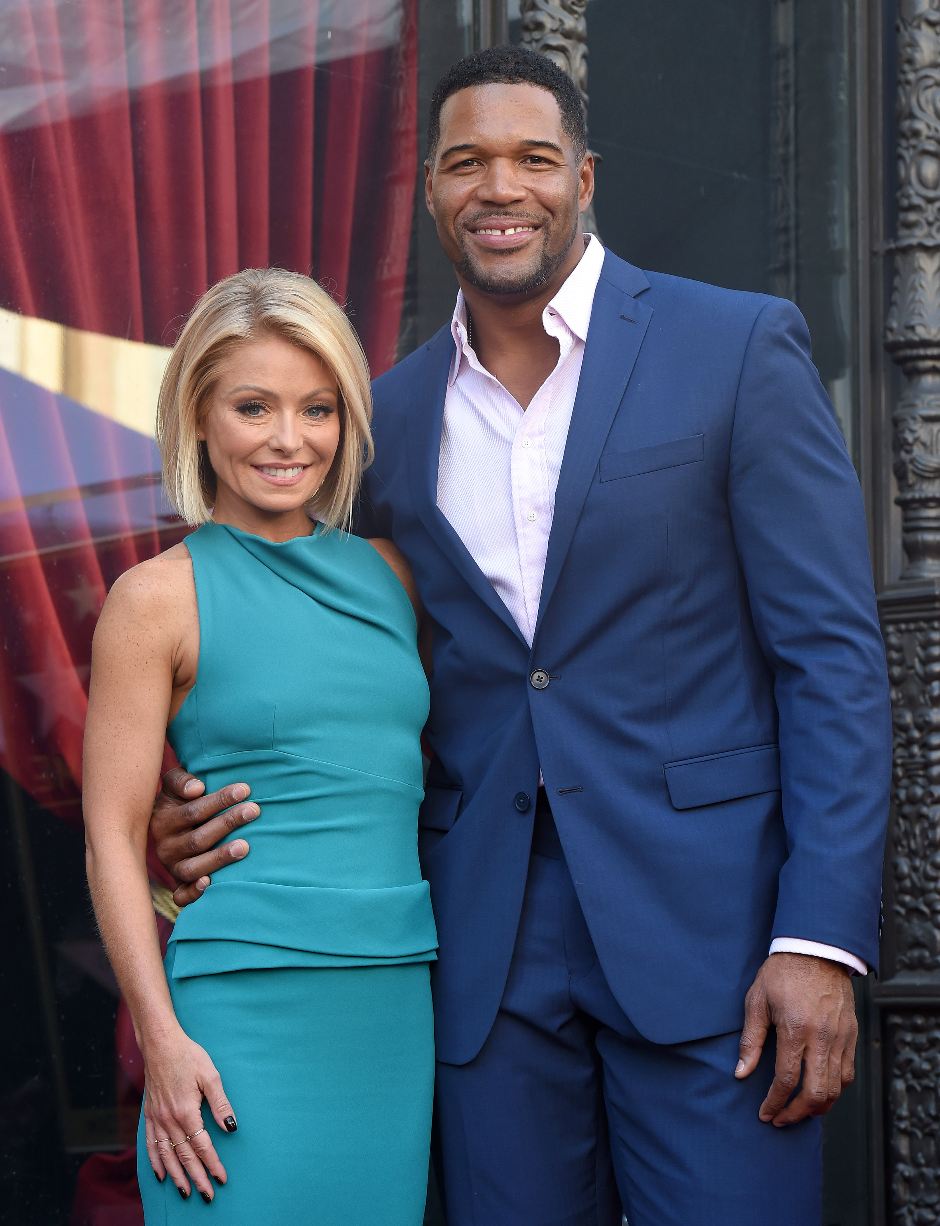 Kelly Ripa and Michael Strahan attend the ceremony honoring Kelly Ripa with a star on the Hollywood Walk of Fame on October 12, 2015 in Hollywood, California. Axelle/Bauer-Griffin—FilmMagic
