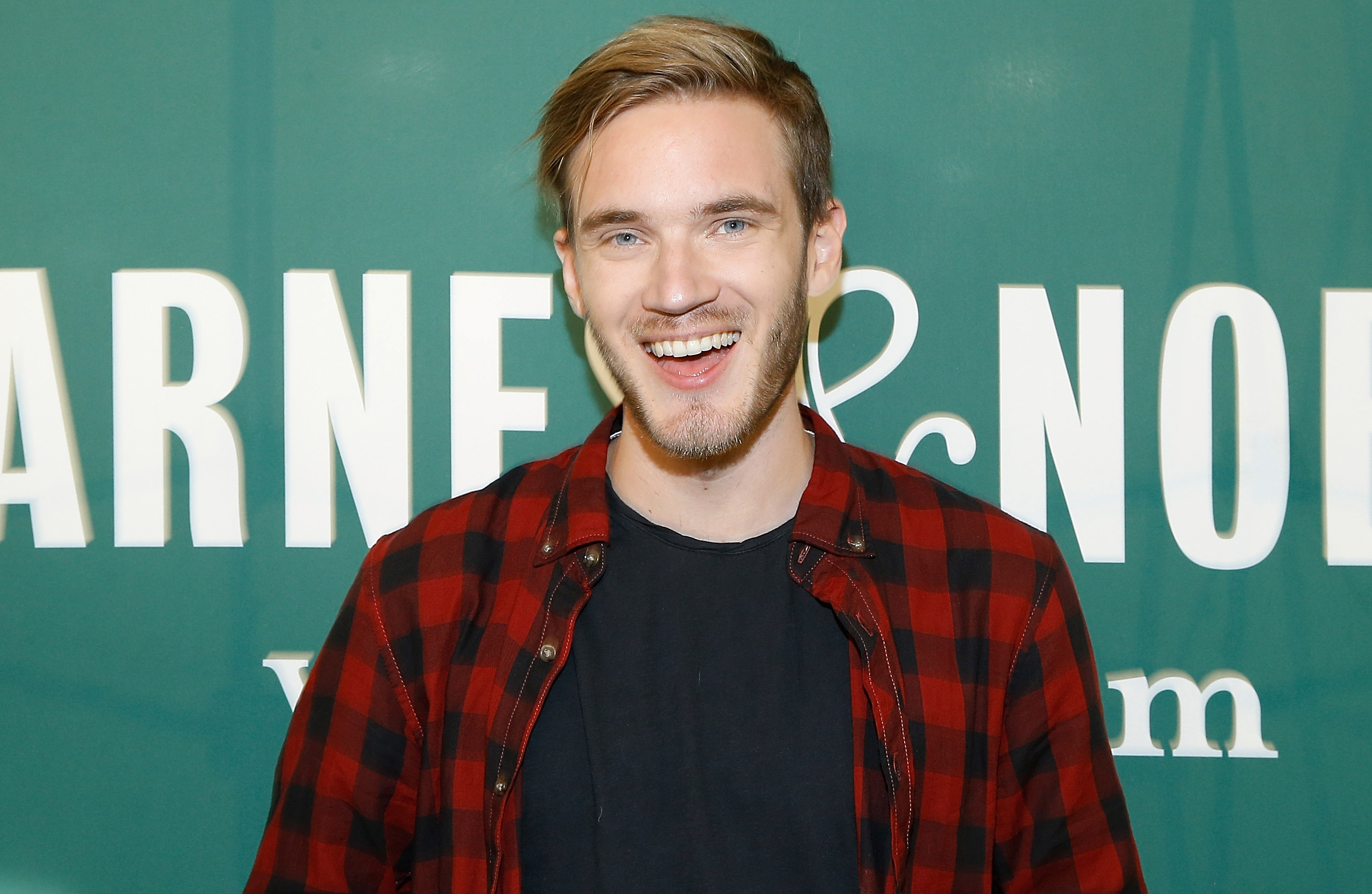 PewDiePie signs copies of his new book  This Book Loves You  at Barnes & Noble Union Square on October 29, 2015 in New York City.