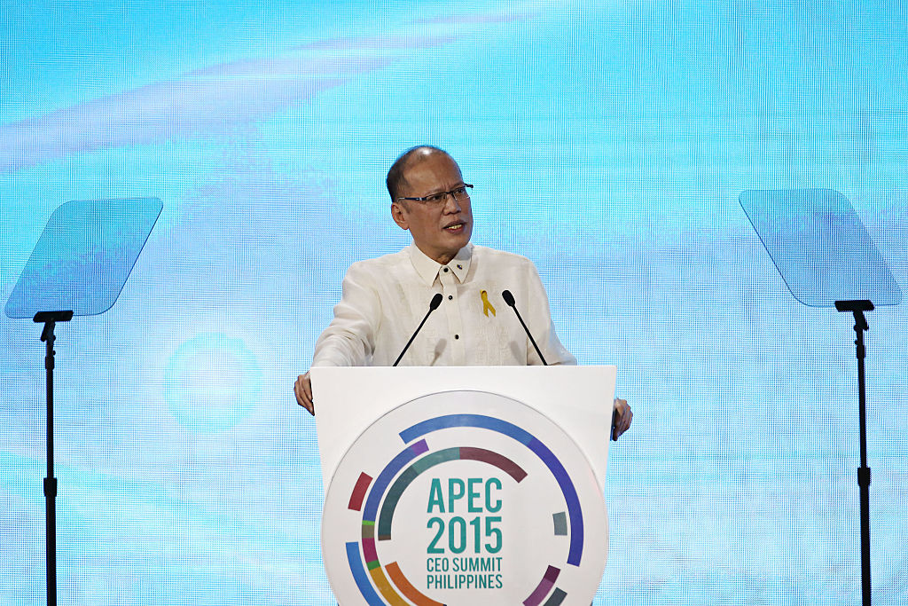 Benigno Aquino III, the Philippines' President, speaks at the Asia-Pacific Economic Cooperation (APEC) CEO Summit in Manila on Nov. 16, 2015