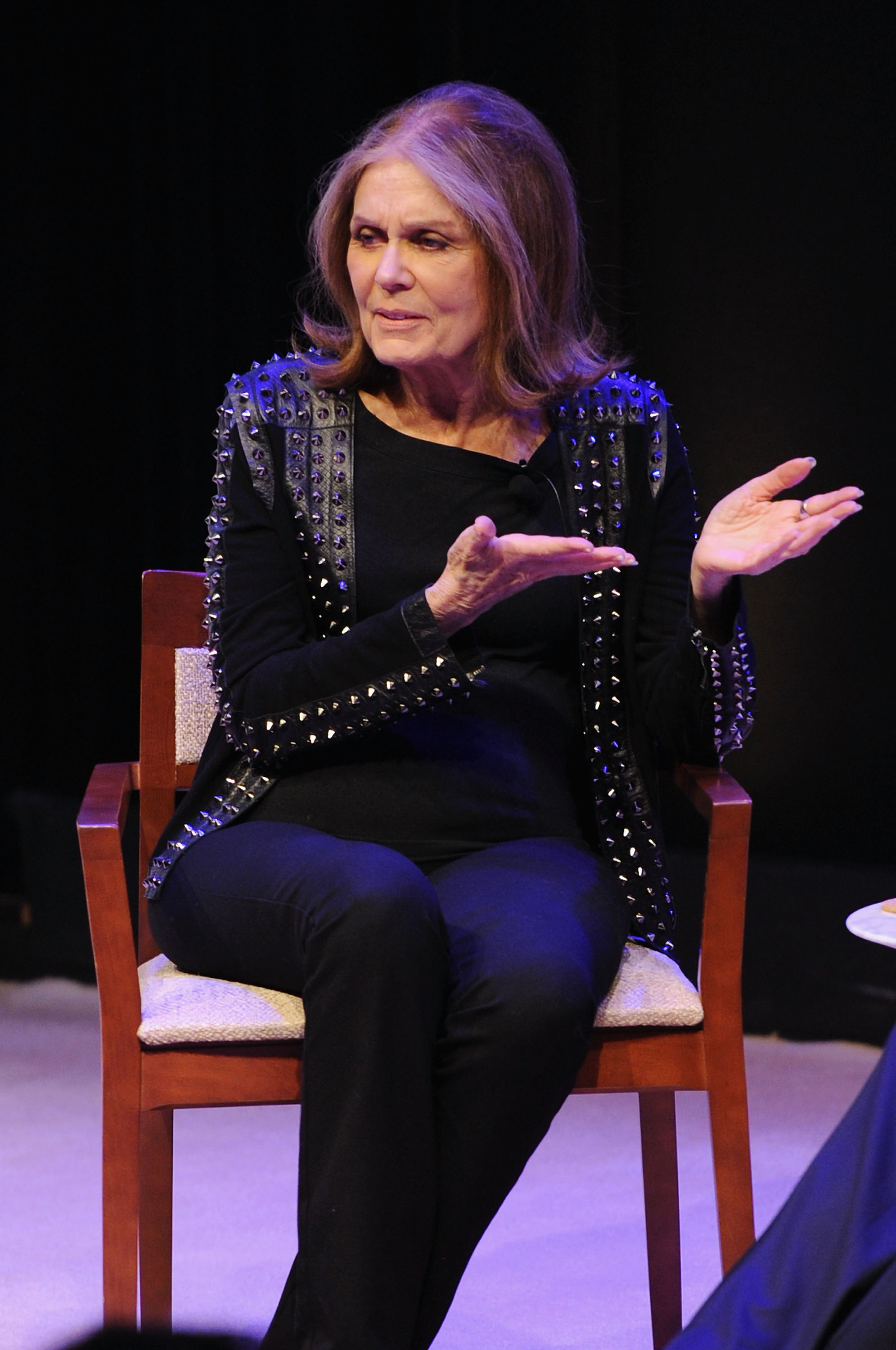 Activist and correspondent at VICE, Gloria Steinem speaks onstage during the VICELAND New York premiere screening of Gloria Steinem's  Woman  in New York City on May 4, 2016.