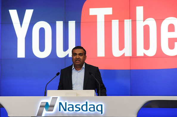 Neil Mohan CPO of YouTube to ring the Nasdaq stock Market closing bell at NASDAQ in New York City on May 5, 2016.
