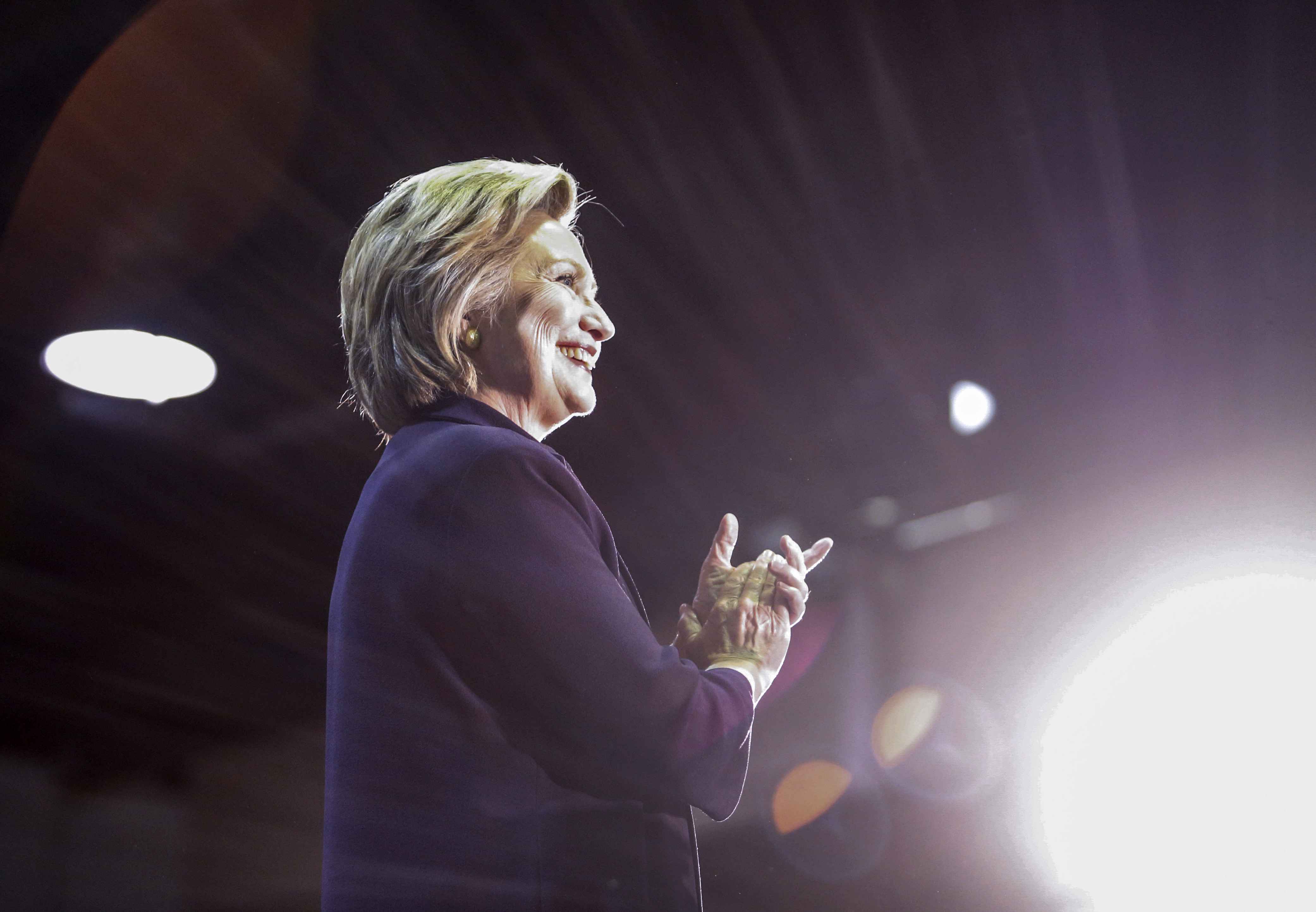 Hillary Clinton speaks during a rally on May 11, 2016, in Blackwood, N.J.