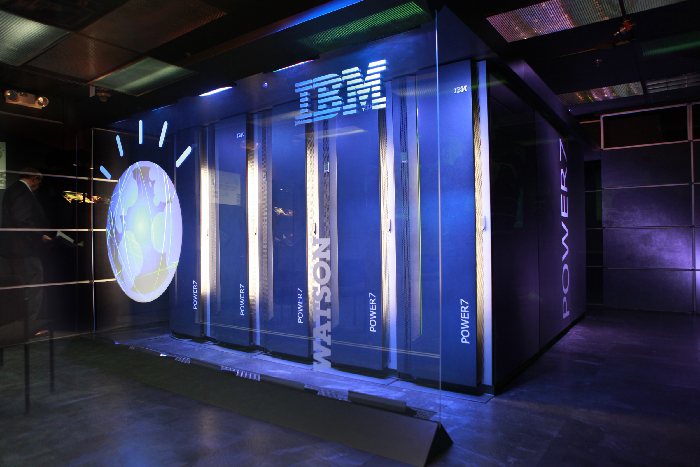 IBM's Watson computer before its 2011 Jeopardy! appearance.