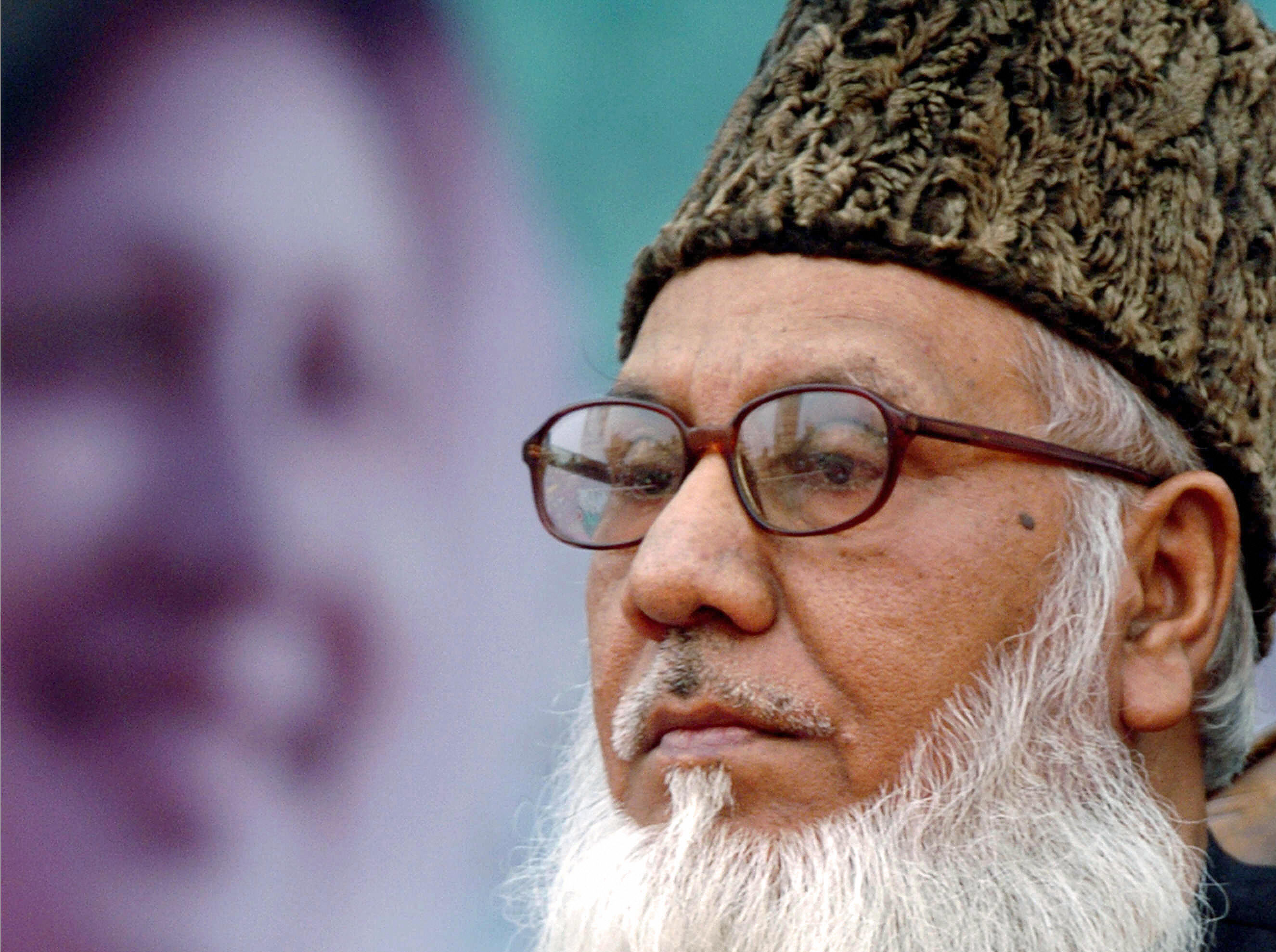 Former industries minister and leader of the Jamaat-e-Islami Islamic party in Bangladesh Motiur Rahman Nizami as he during a rally in Dhaka, Dec. 12, 2006