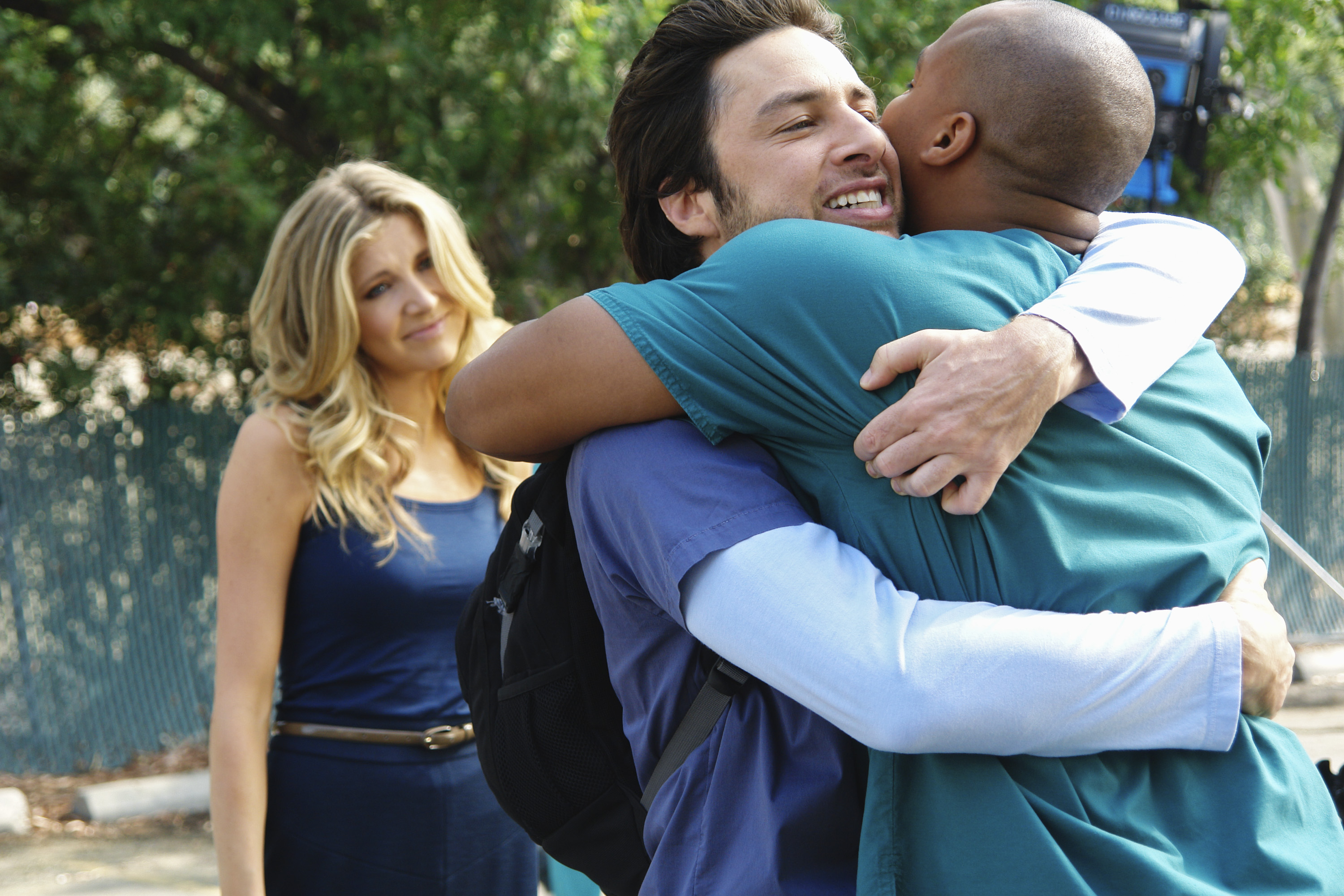 On the season finale of 'Scrubs,' May 6, 2008, J.D. plans to say goodbye to Sacred Heart